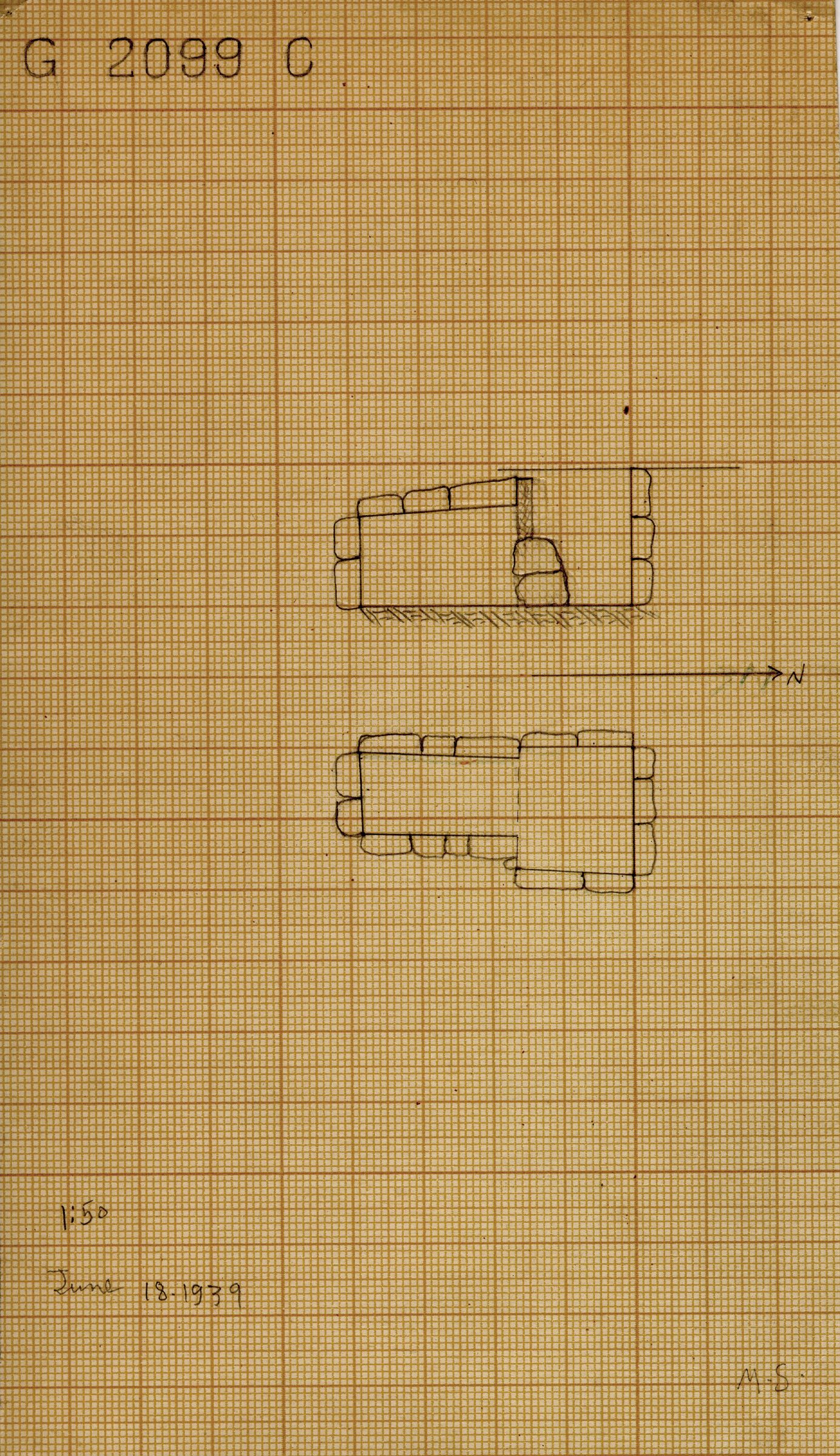 Maps and plans: G 2099, Shaft C