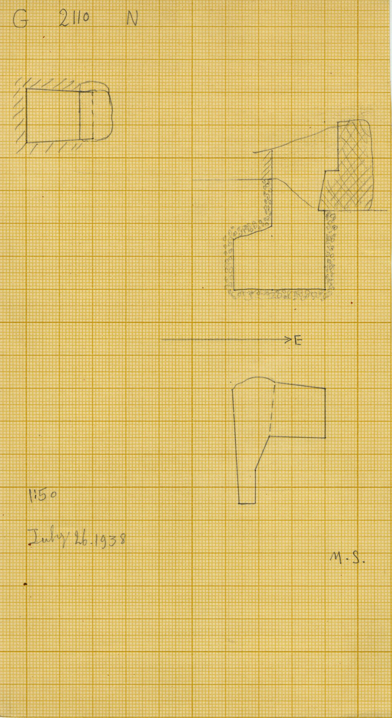 Maps and plans: G 2110, Shaft N