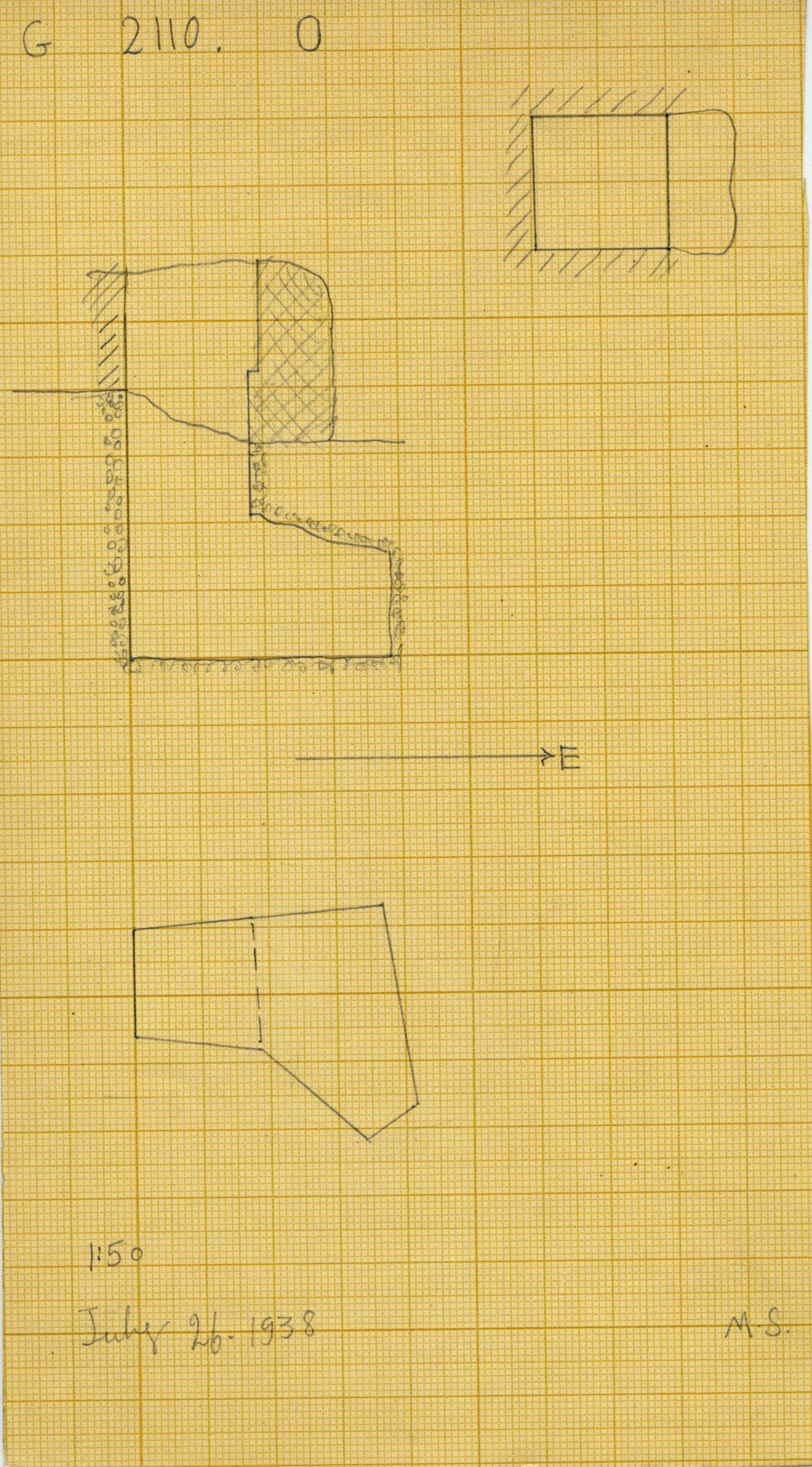 Maps and plans: G 2110, Shaft O