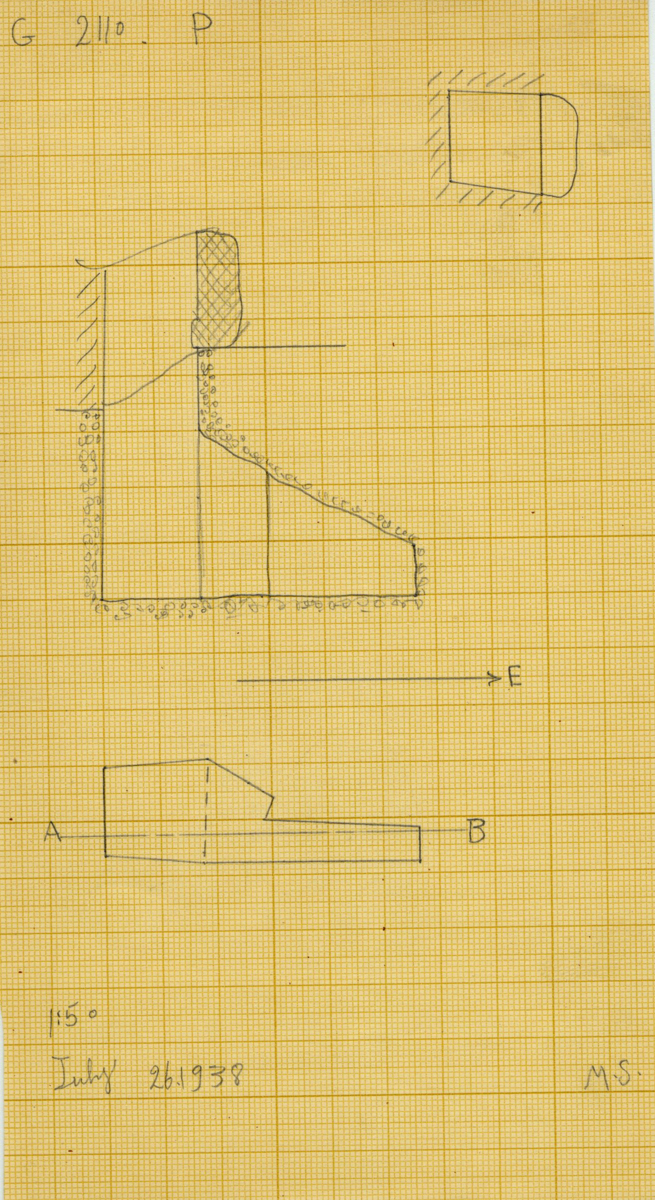 Maps and plans: G 2110, Shaft P