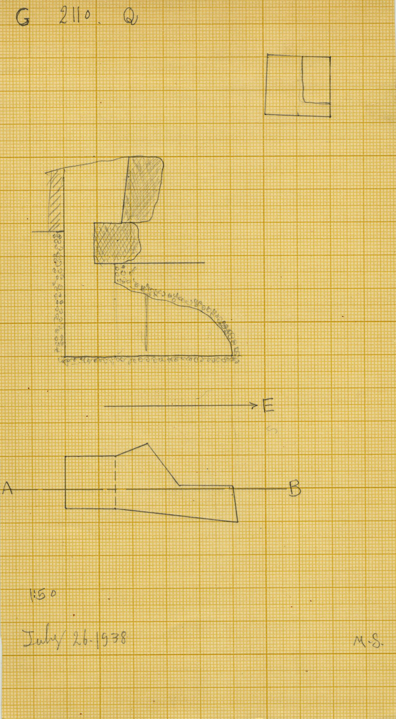 Maps and plans: G 2110, Shaft Q
