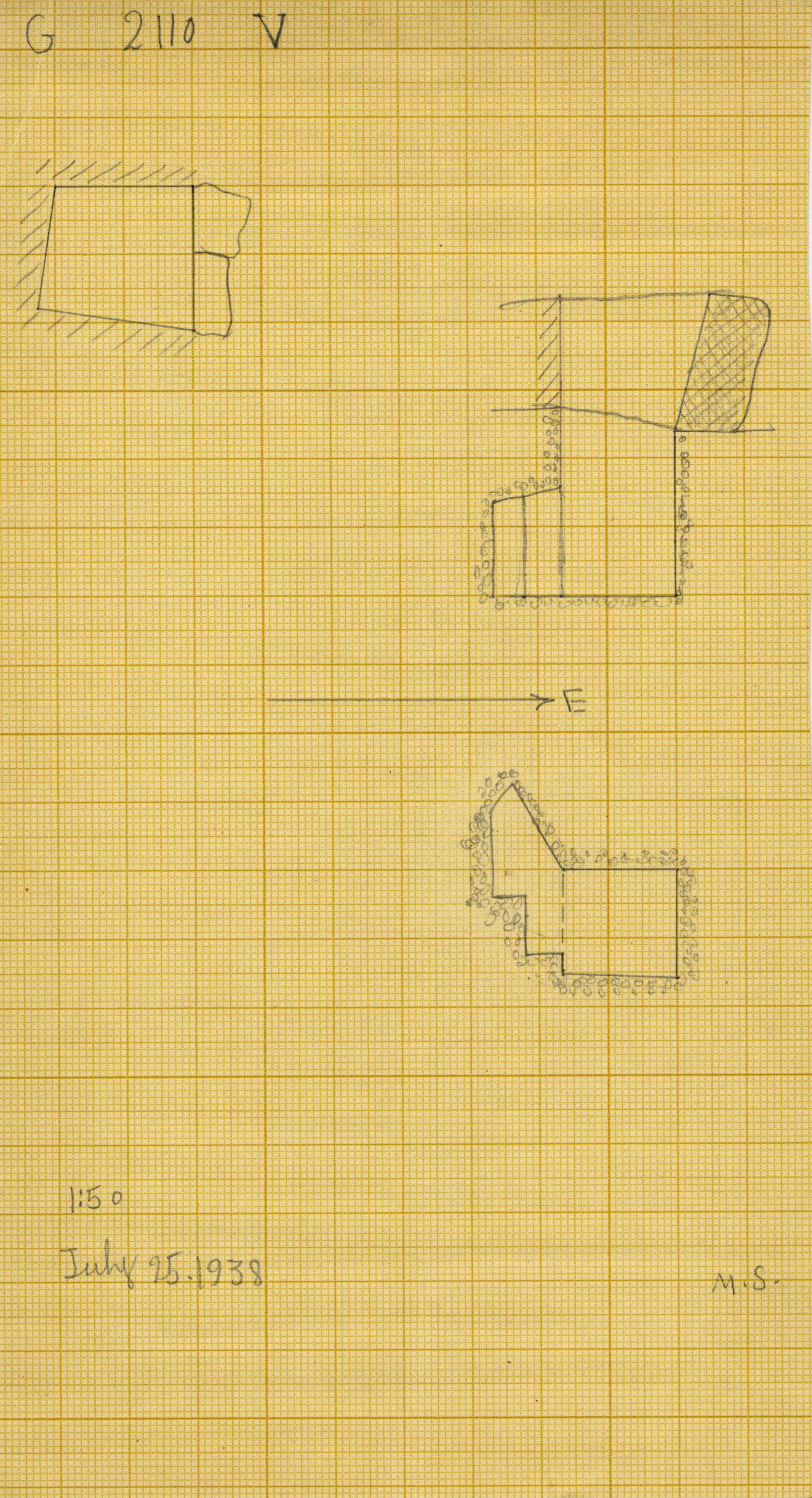 Maps and plans: G 2110, Shaft V