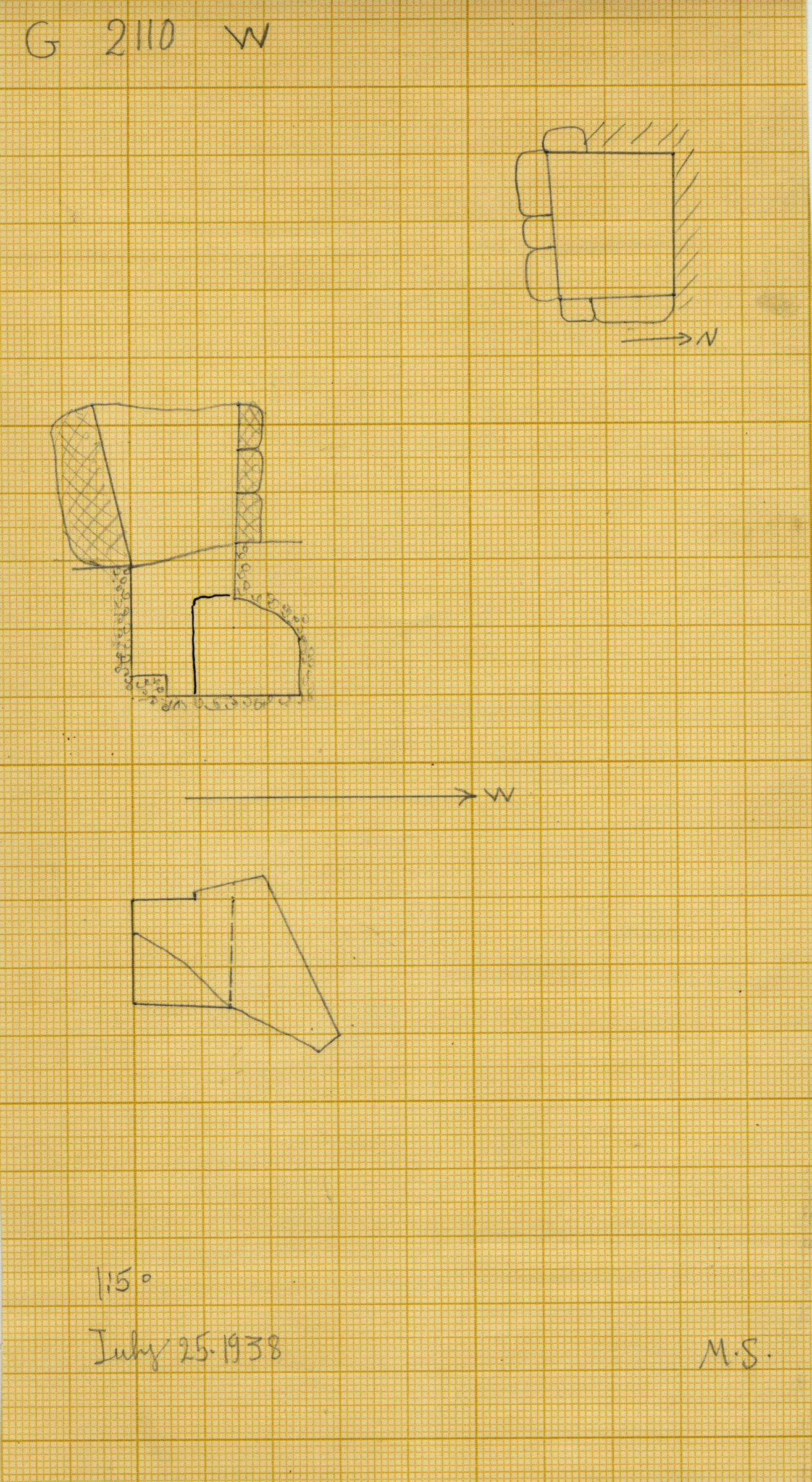 Maps and plans: G 2110, Shaft W