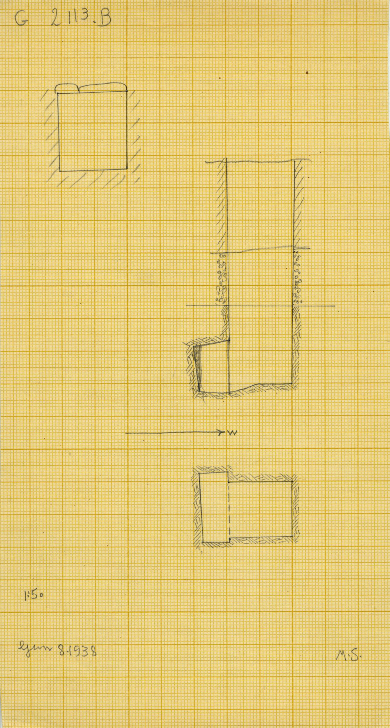 Maps and plans: G 2113, Shaft B
