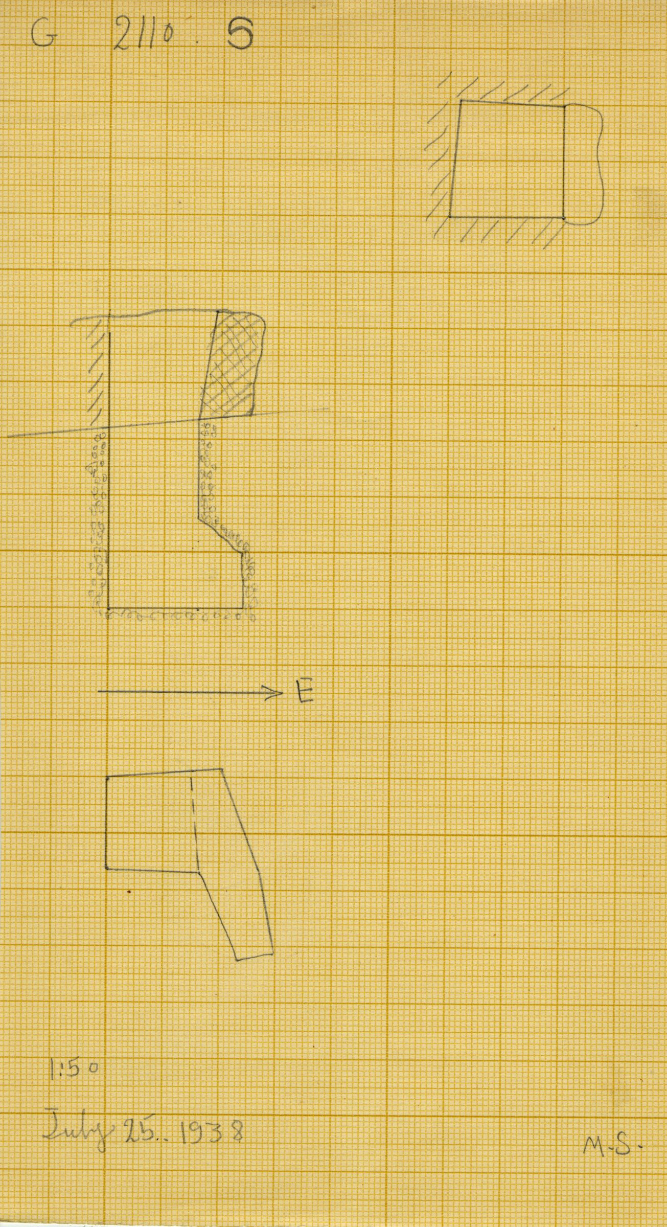 Maps and plans: G 2110, Shaft S