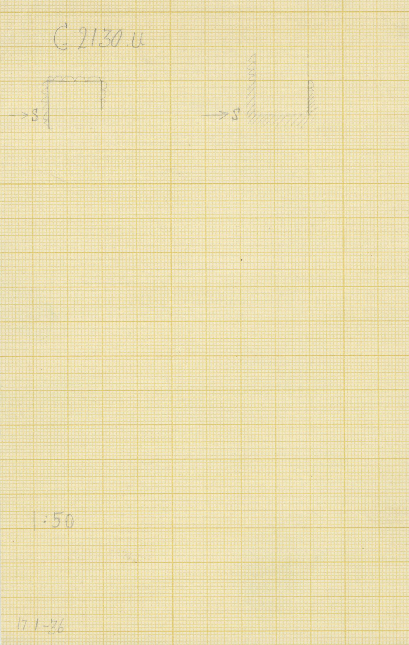 Maps and plans: G 2130, Shaft U