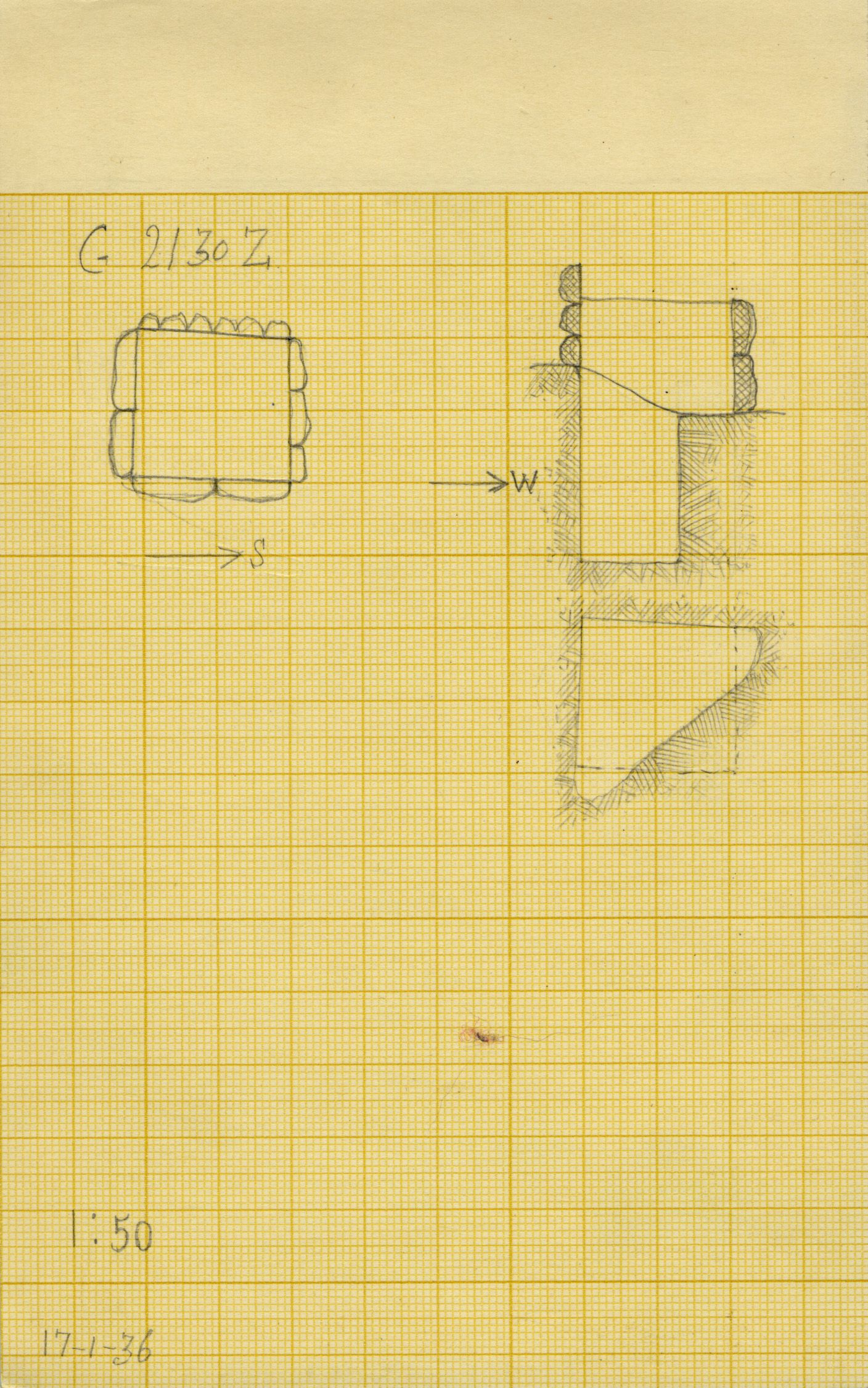 Maps and plans: G 2130, Shaft Z