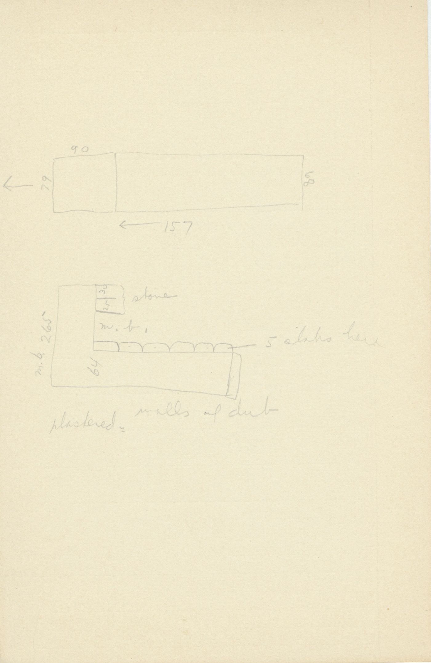Maps and plans: G 2132, Shaft A, notes