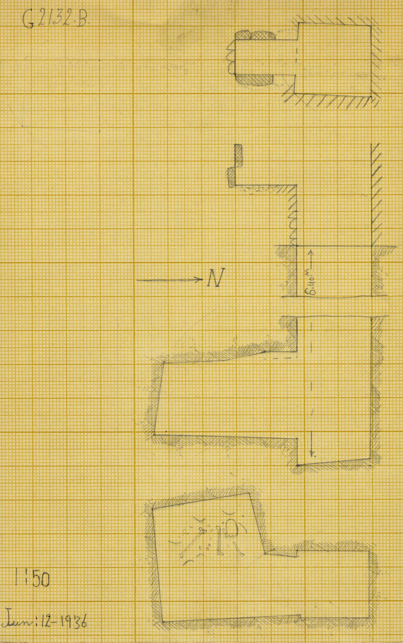 Maps and plans: G 2132, Shaft B