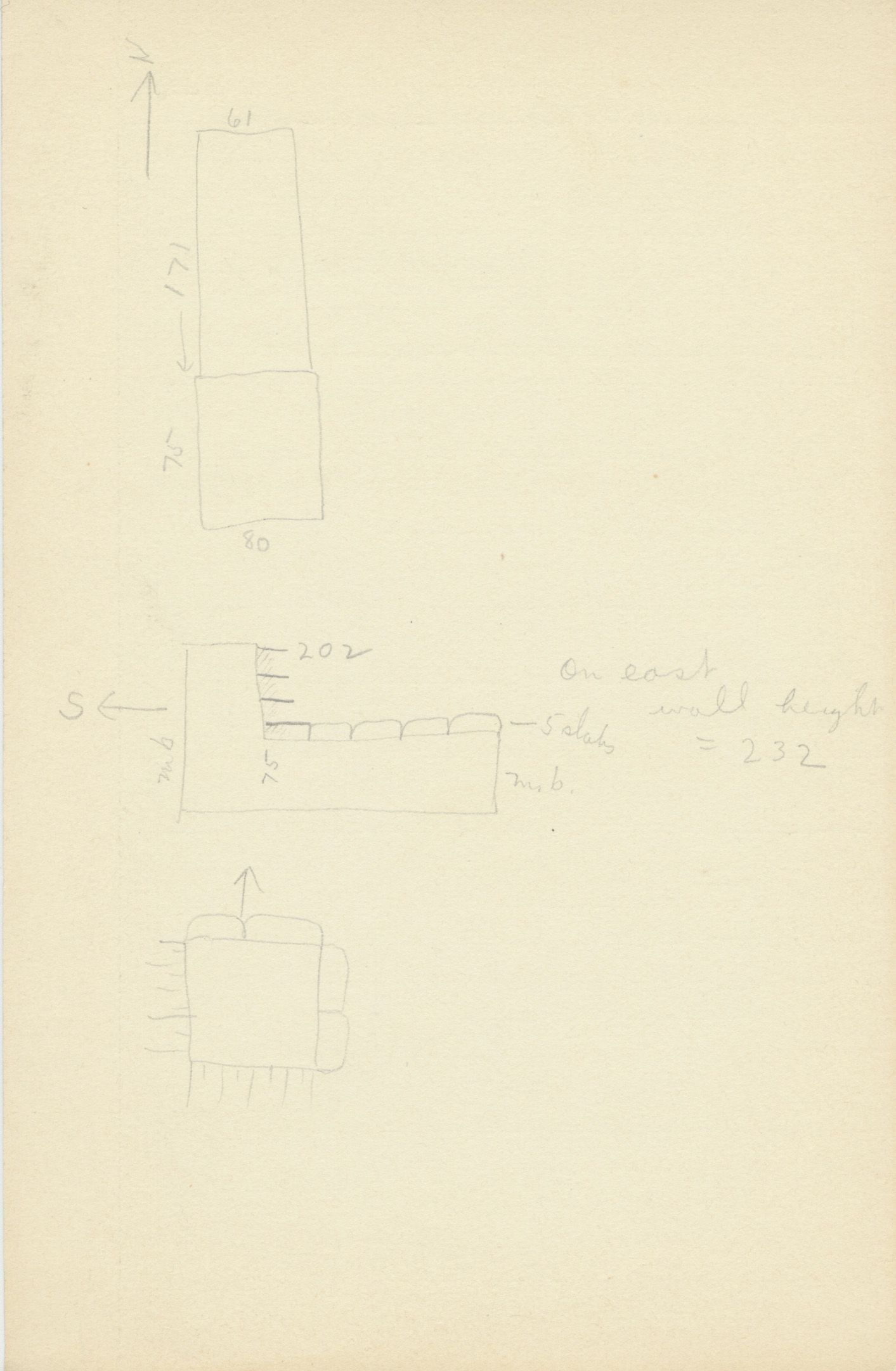 Maps and plans: G 2132, Shaft C, notes