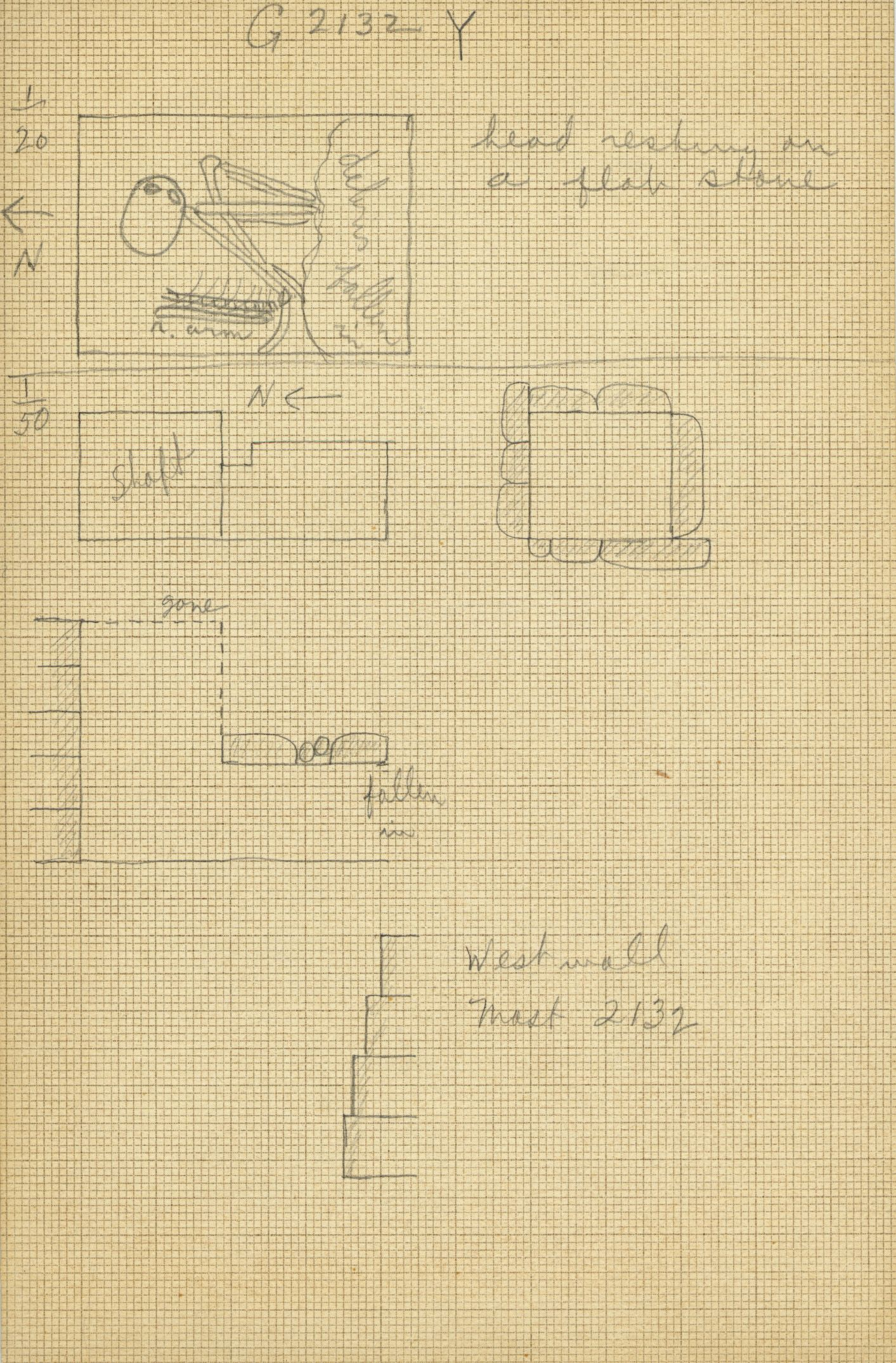 Maps and plans: G 2132, Shaft Y