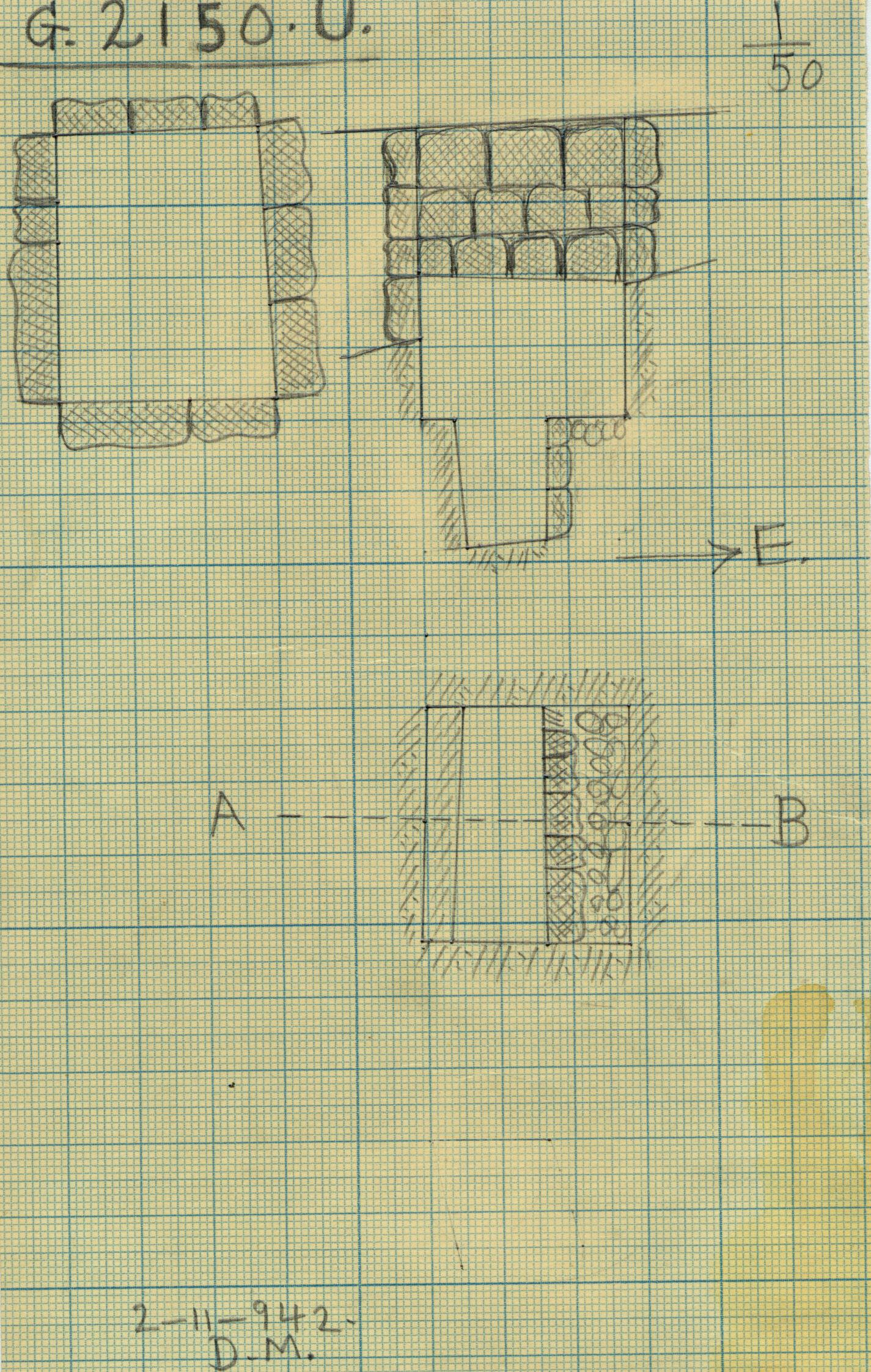 Maps and plans: G 2150, Shaft U