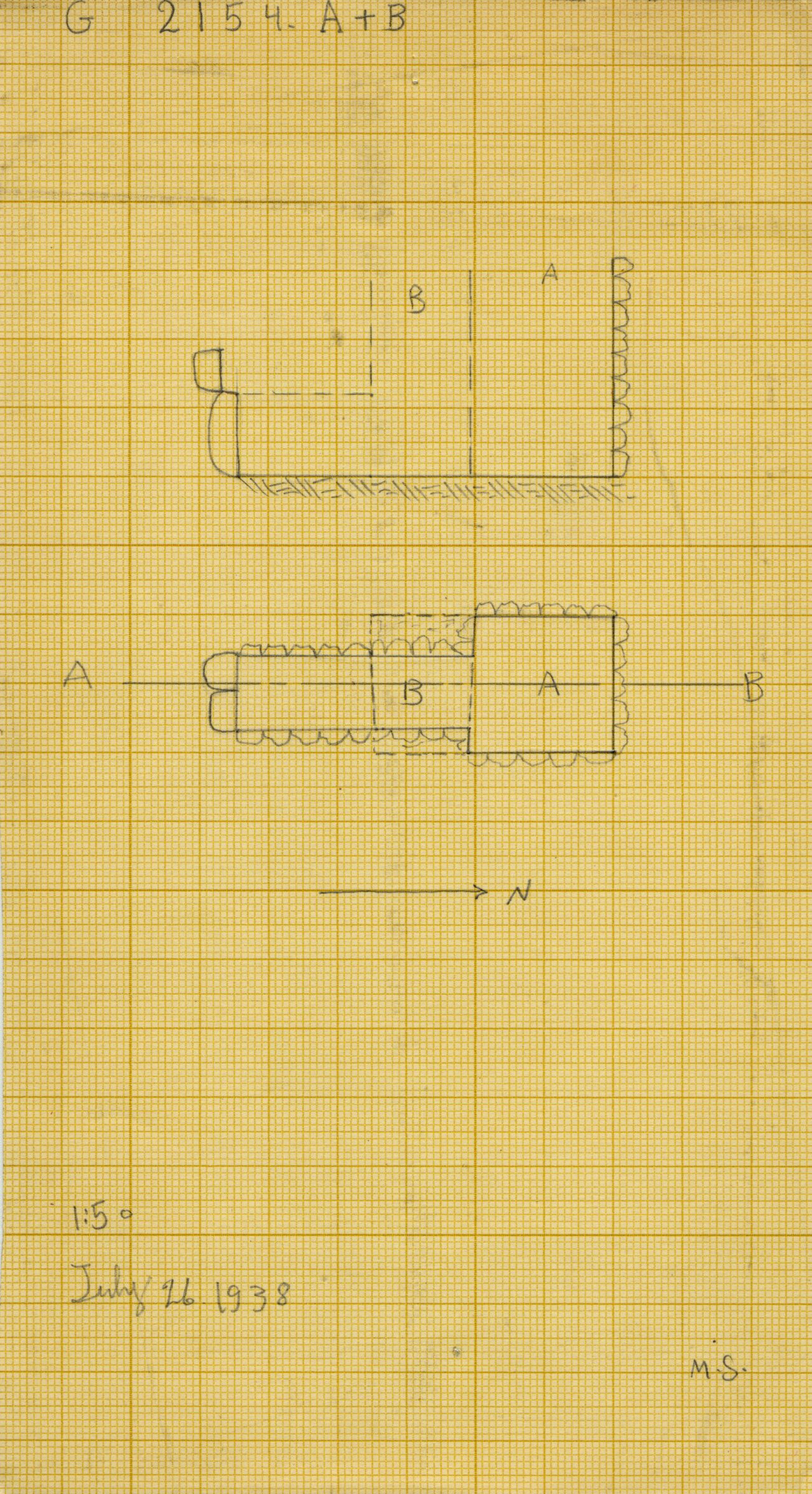 Maps and plans: G 2154, Shaft A and B