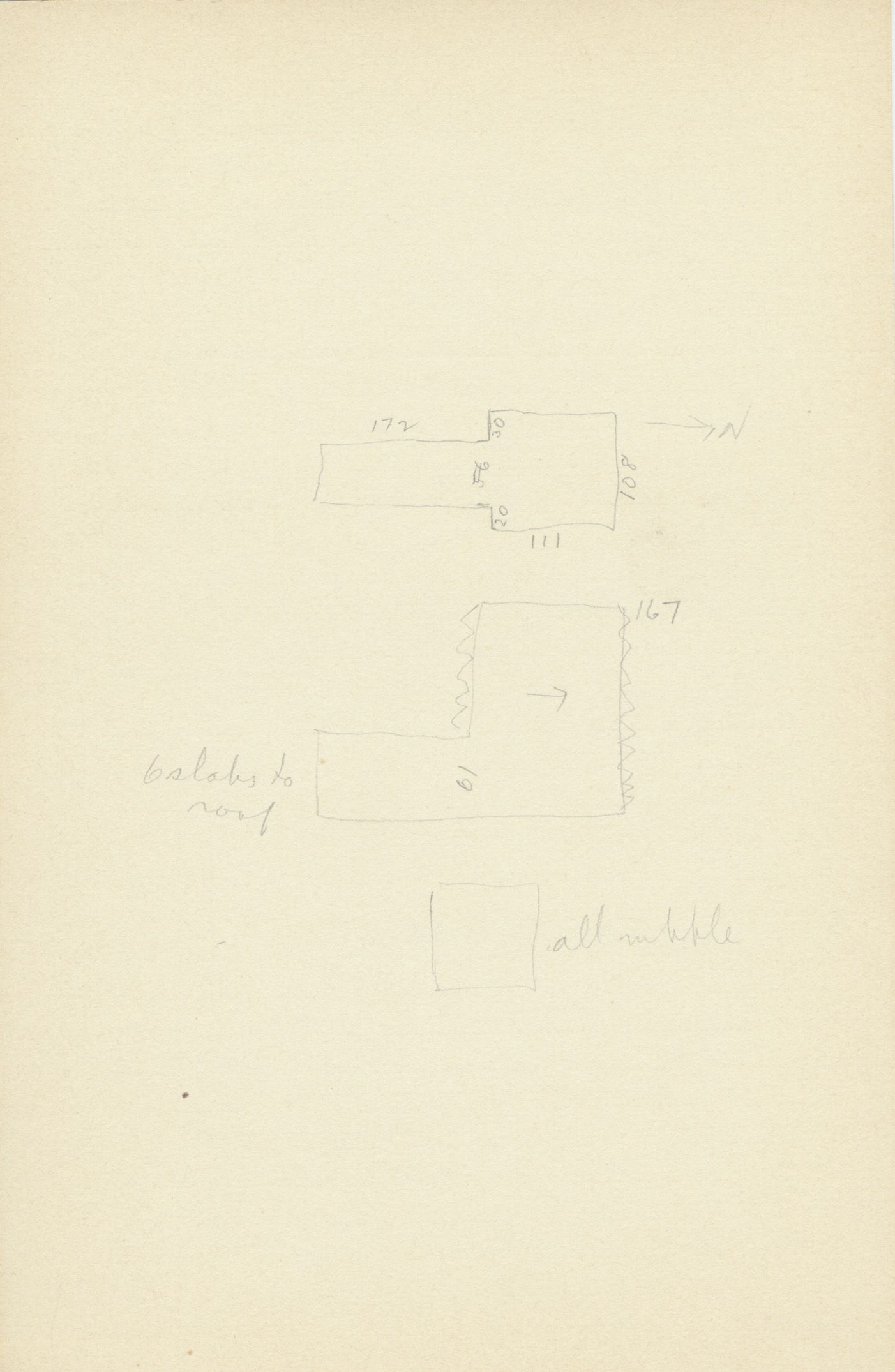 Maps and plans: G 2154, Shaft A, notes