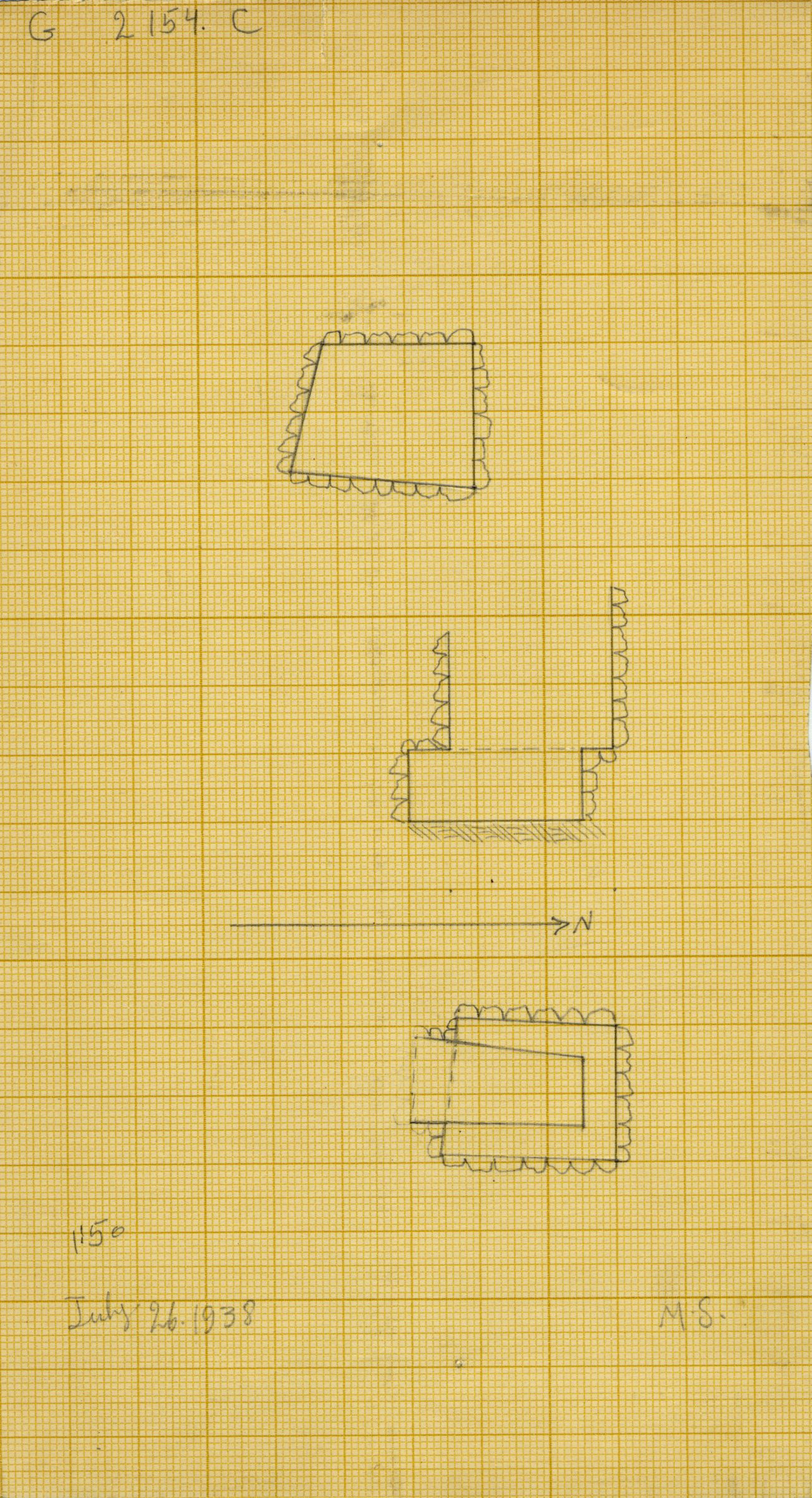 Maps and plans: G 2154, Shaft C