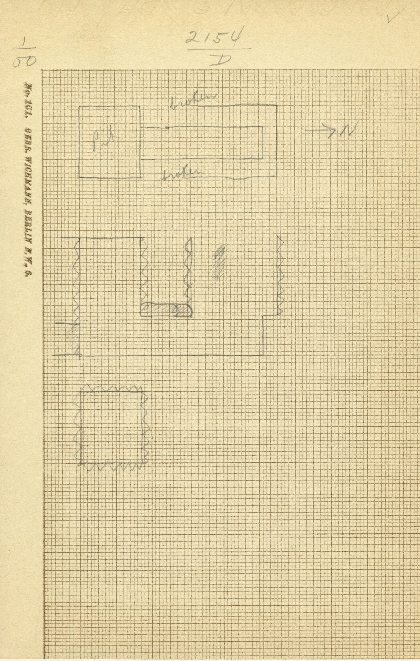 Maps and plans: G 2154, Shaft C and D