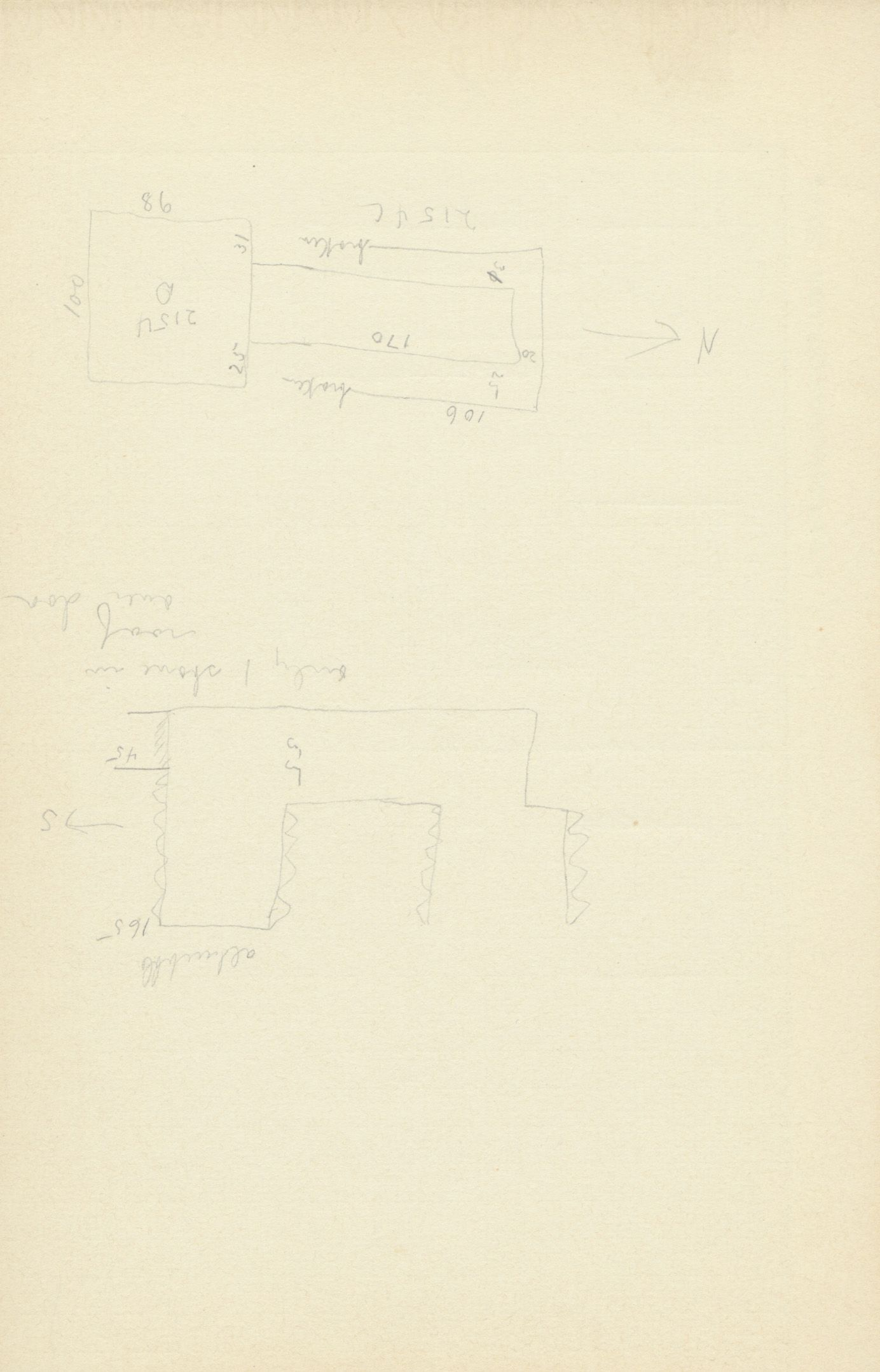 Maps and plans: G 2154, Shaft D, notes