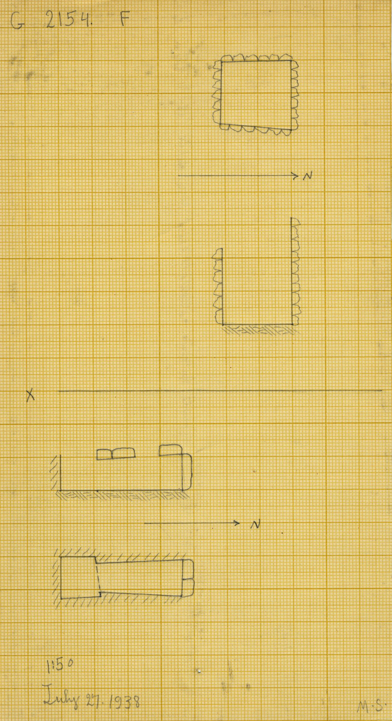 Maps and plans: G 2154, Shaft F and X