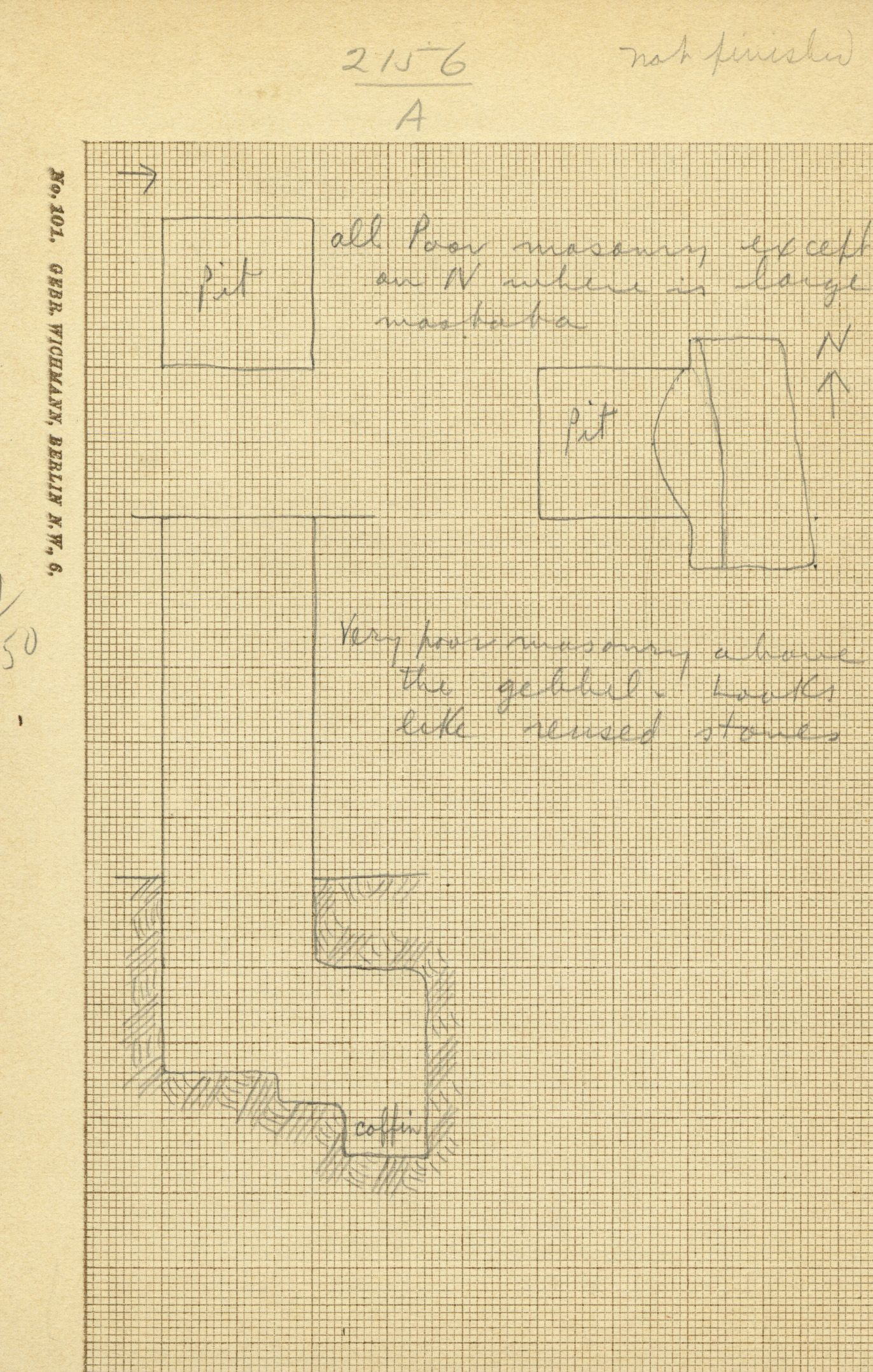 Maps and plans: G 2156', Shaft A