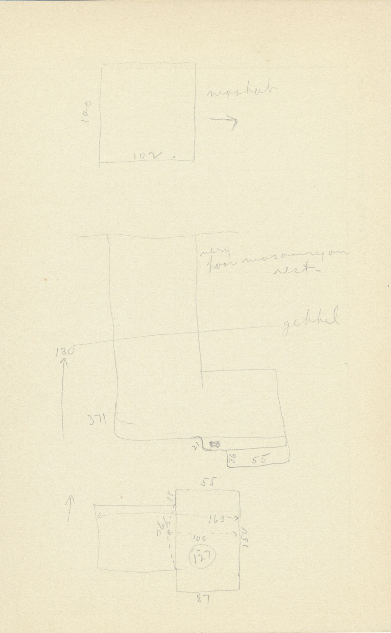 Maps and plans: G 2156', Shaft A, notes