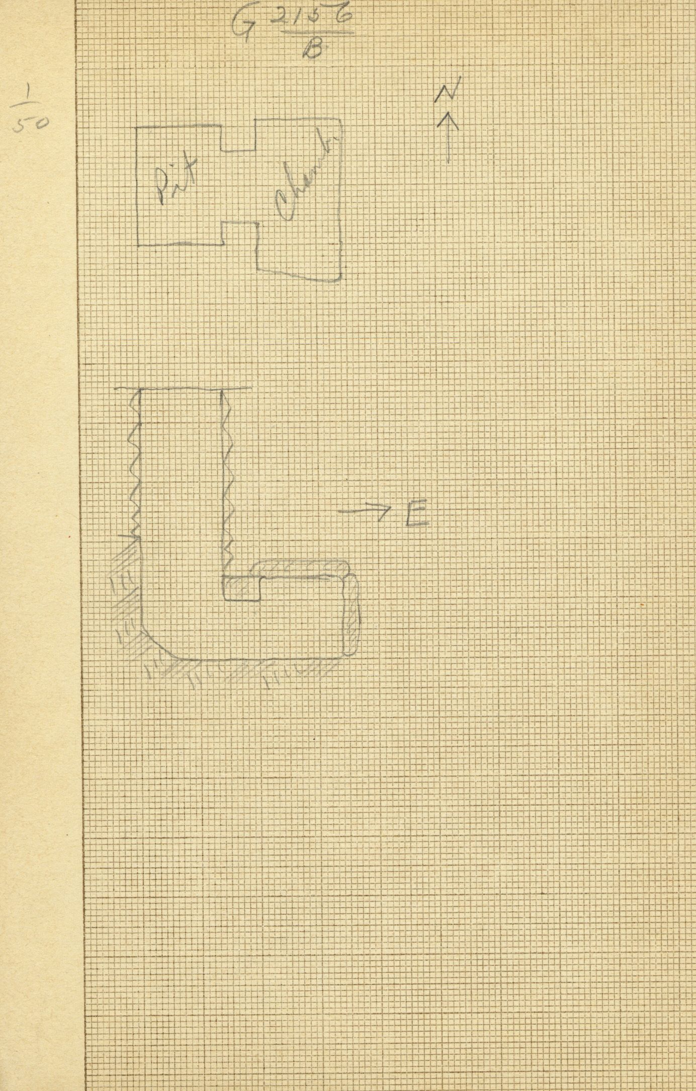 Maps and plans: G 2156', Shaft B