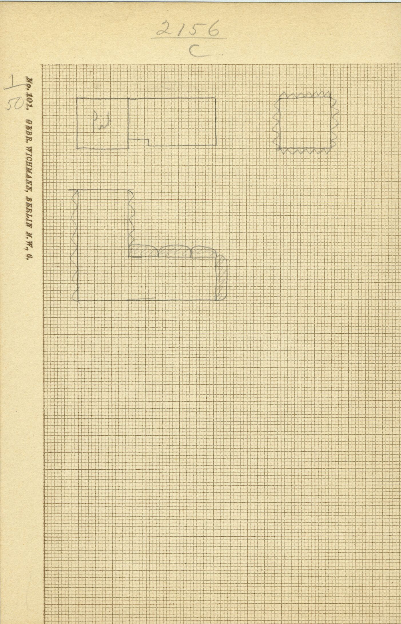 Maps and plans: G 2156', Shaft C