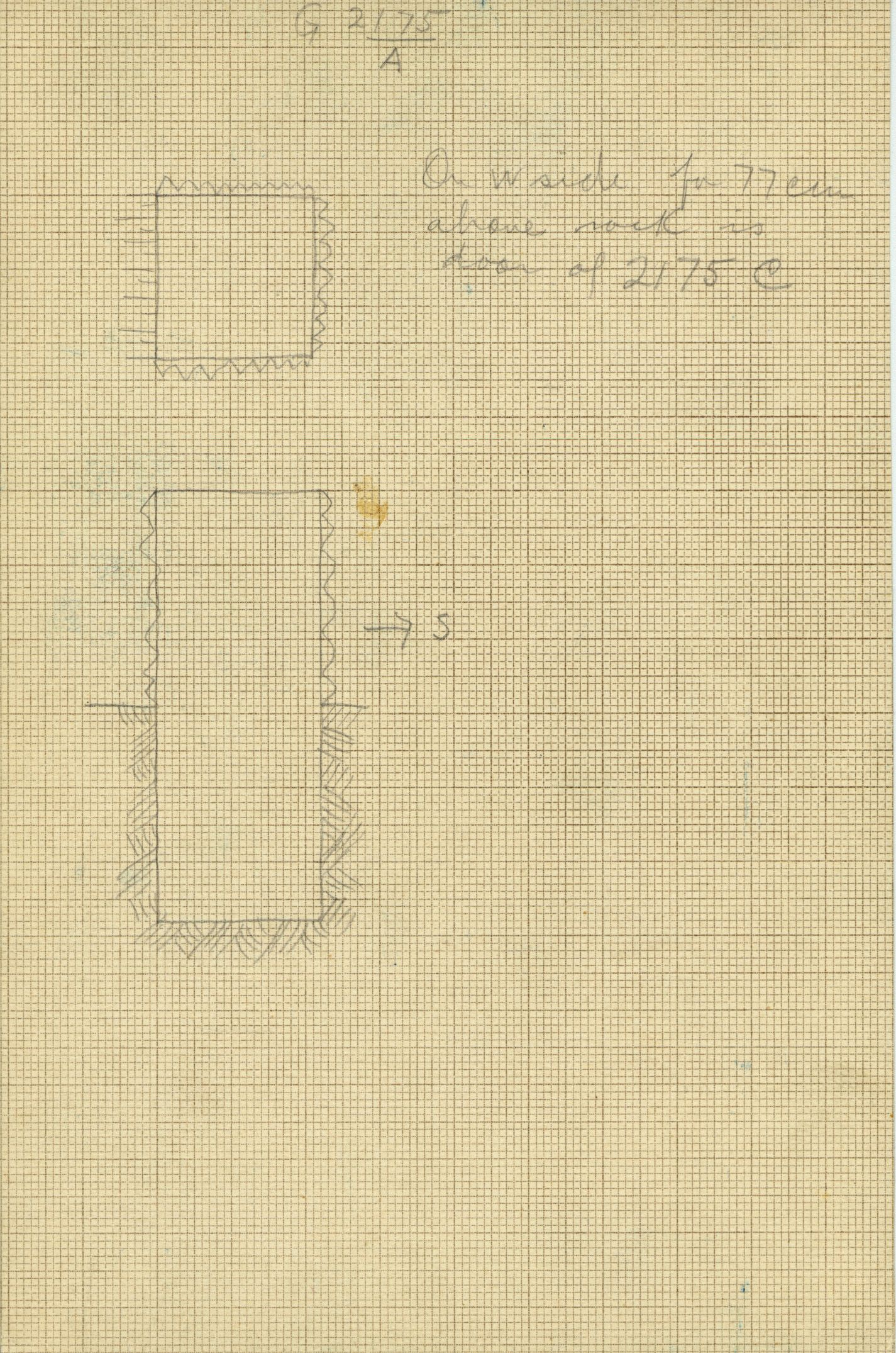 Maps and plans: G 2175, Shaft A