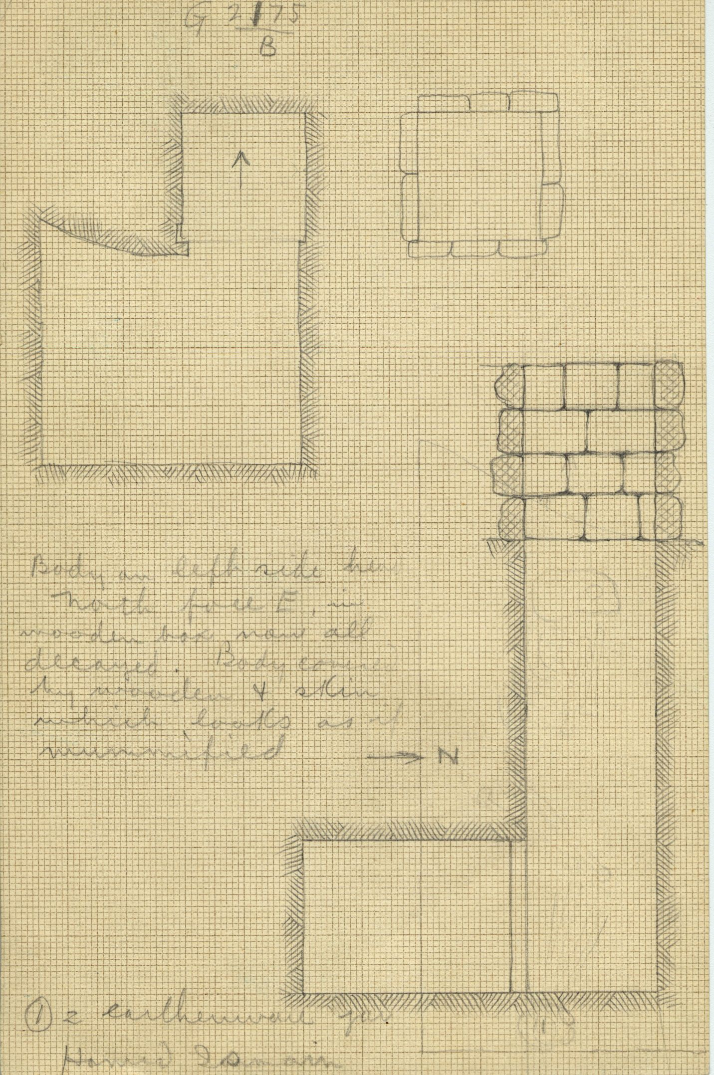 Maps and plans: G 2175, Shaft B
