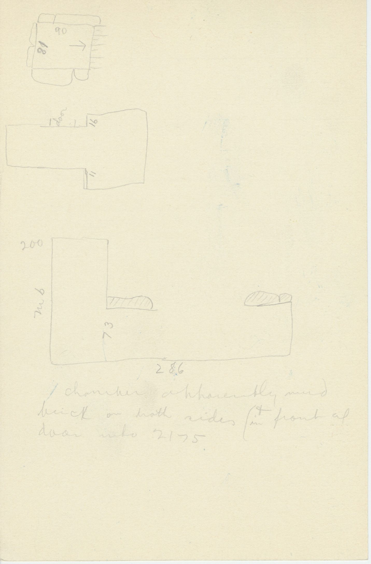 Maps and plans: G 2175, Shaft X, notes