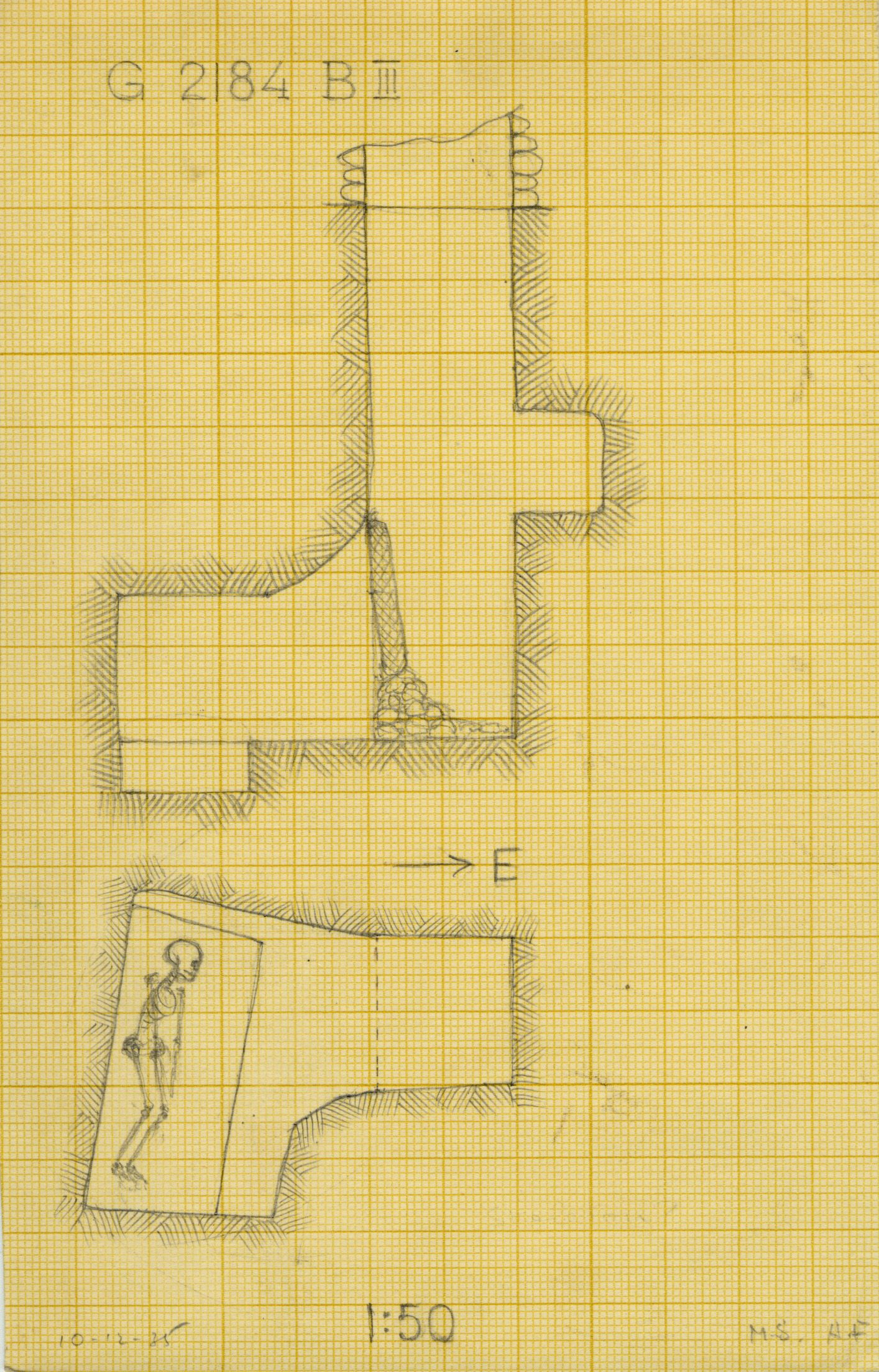 Maps and plans: G 2184, Shaft B (III)