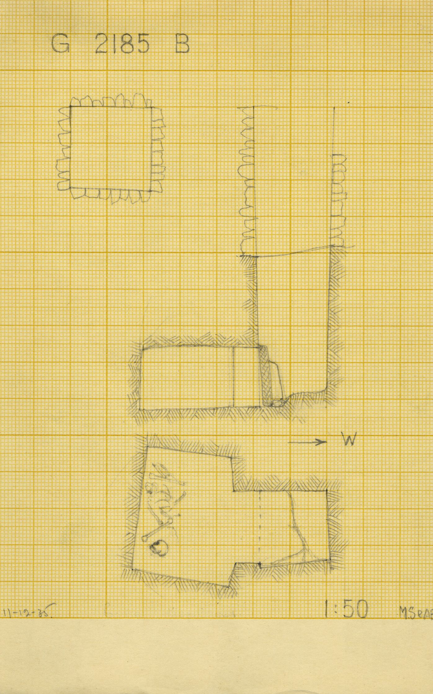 Maps and plans: G 2185, Shaft B