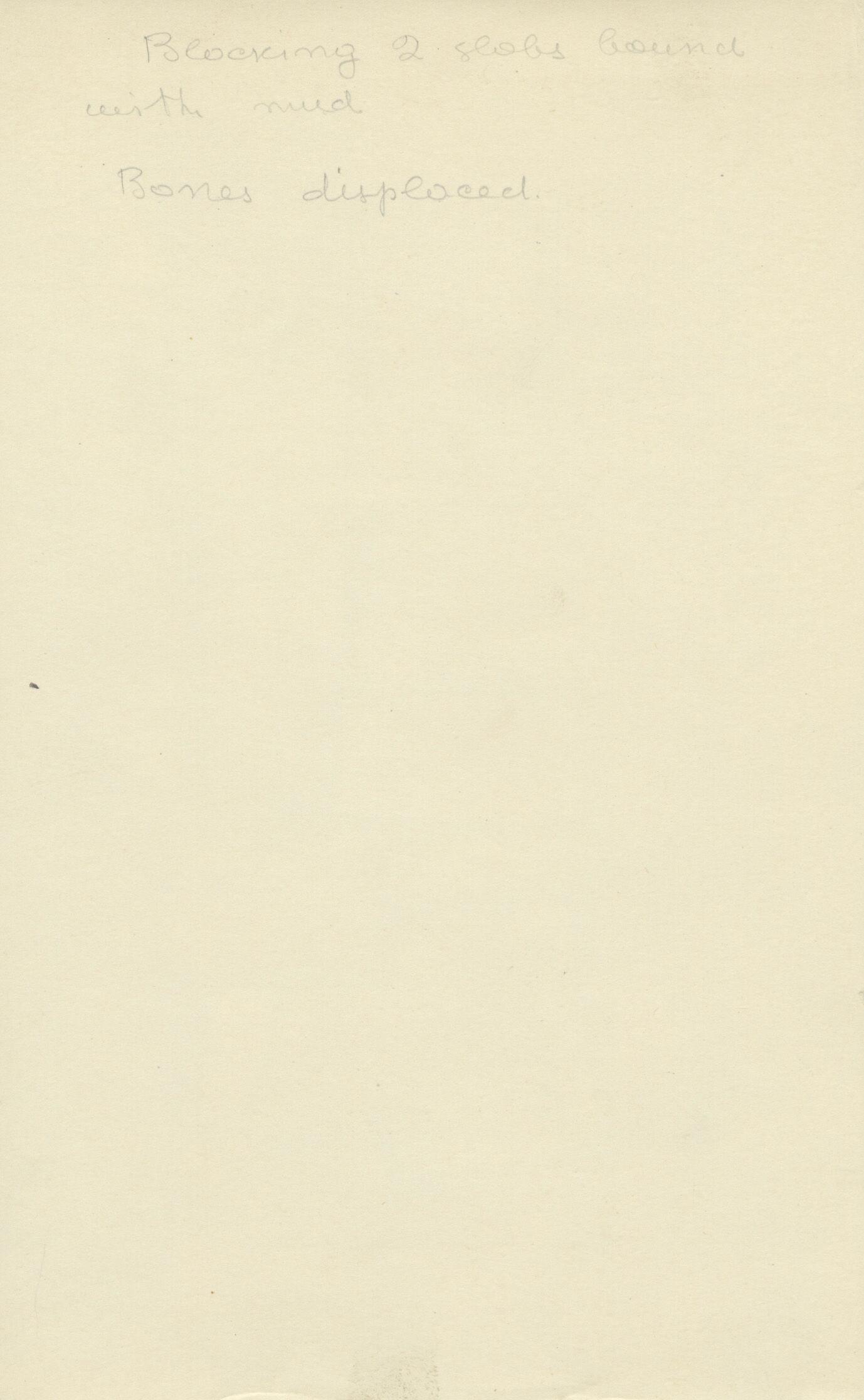 Notes: G 2185, Shaft B, notes
