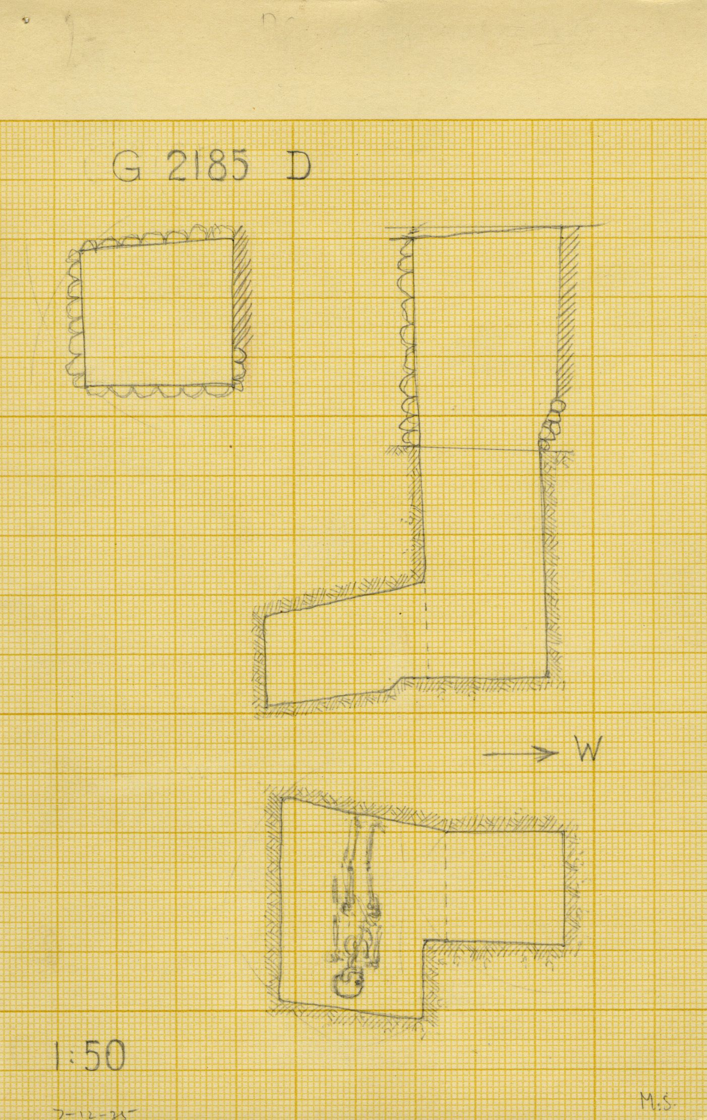 Maps and plans: G 2185, Shaft D
