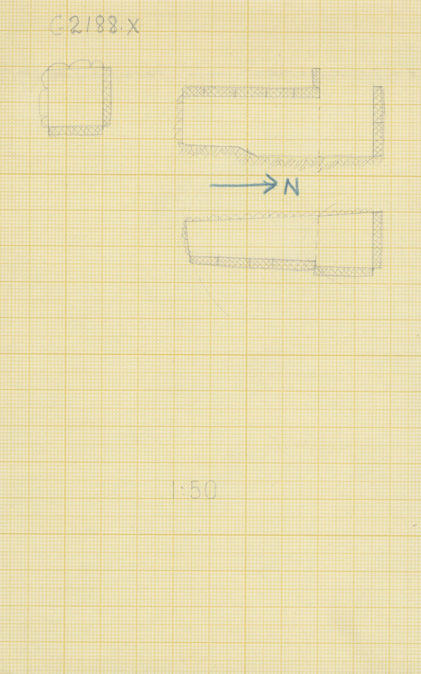 Maps and plans: G 2188, Shaft X