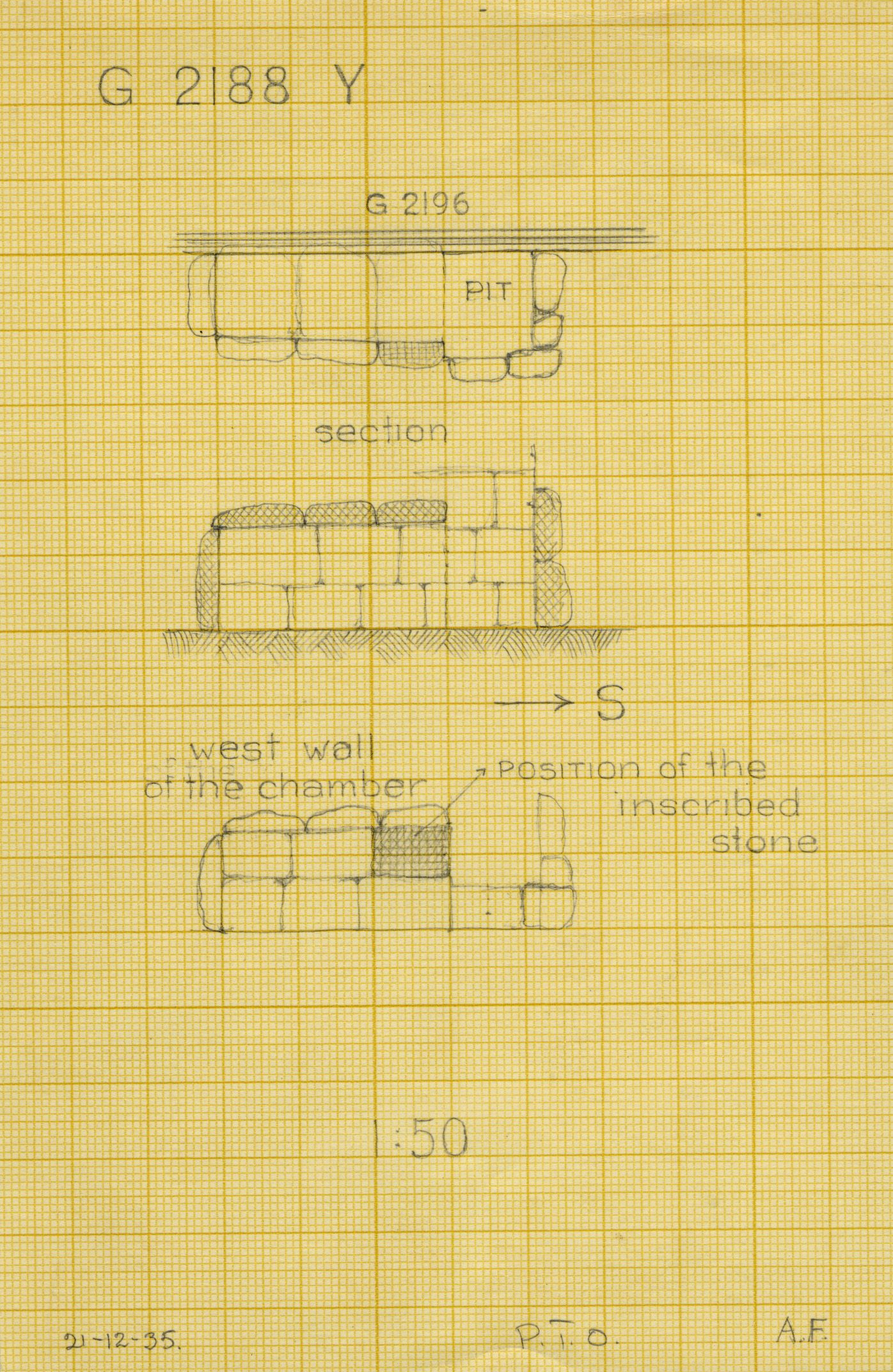Maps and plans: G 2188, Shaft Y