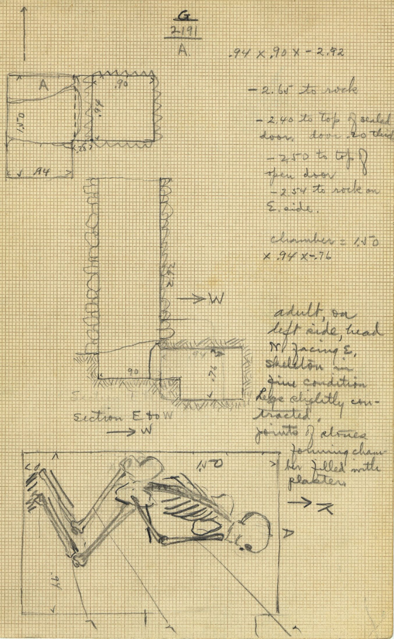 Maps and plans: G 2191, Shaft A