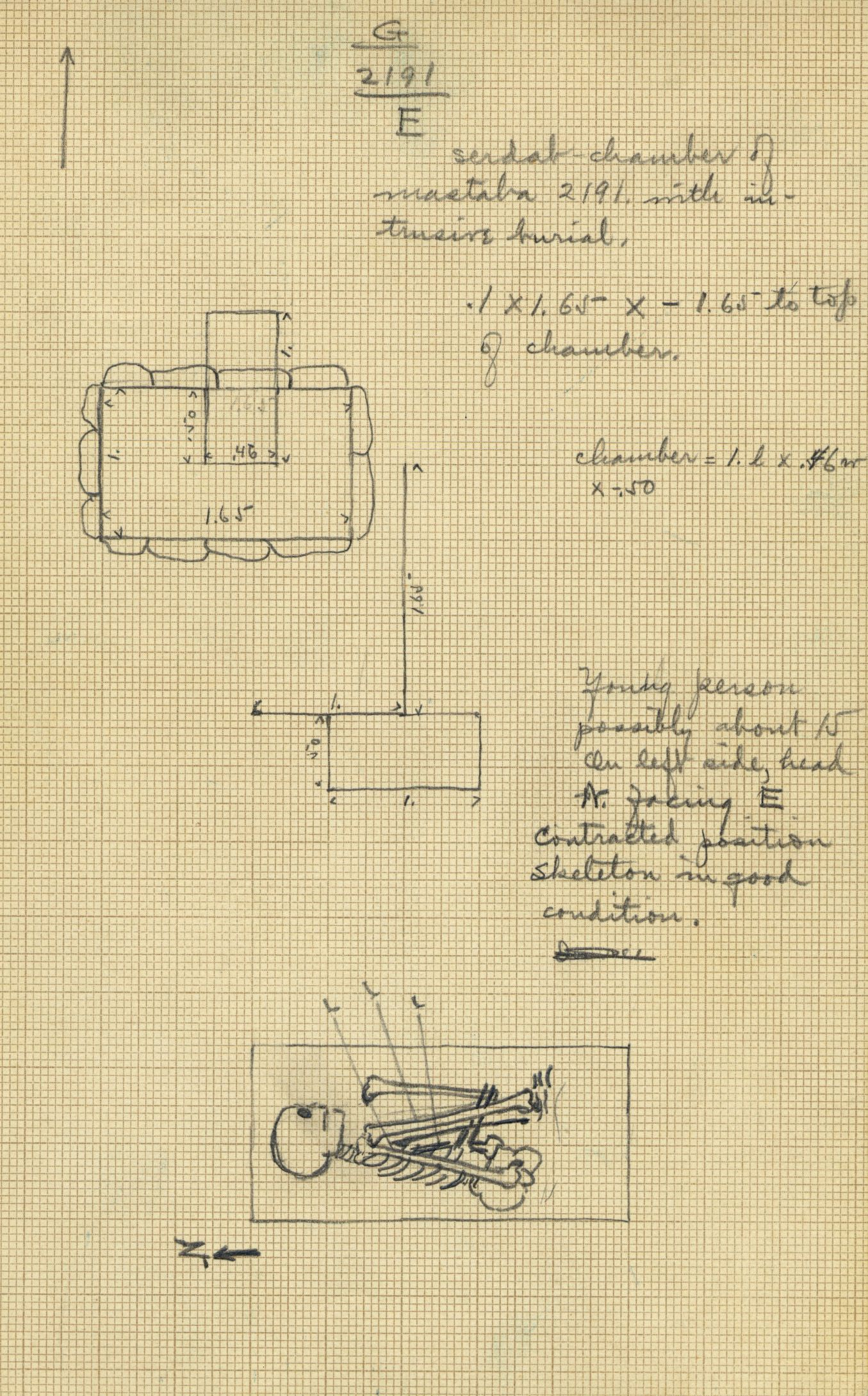 Maps and plans: G 2191, Shaft E