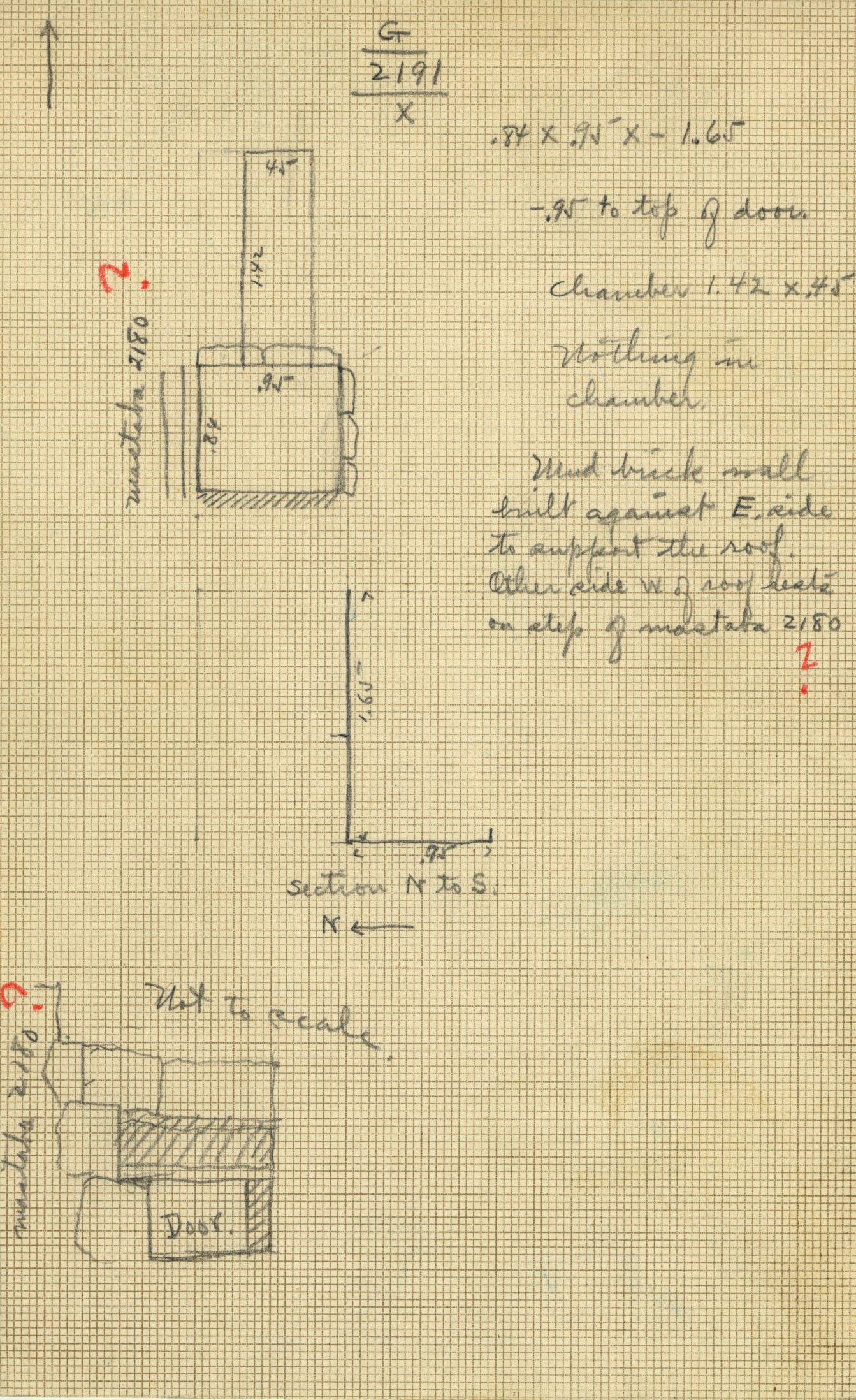 Maps and plans: G 2191, Shaft X