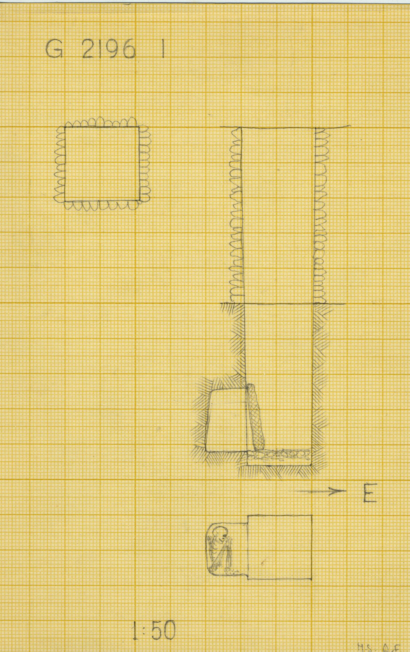 Maps and plans: G 2196, Shaft I