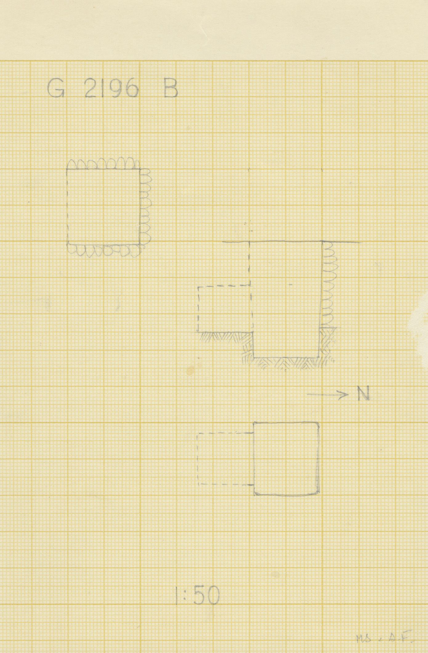 Maps and plans: G 2196, Shaft B