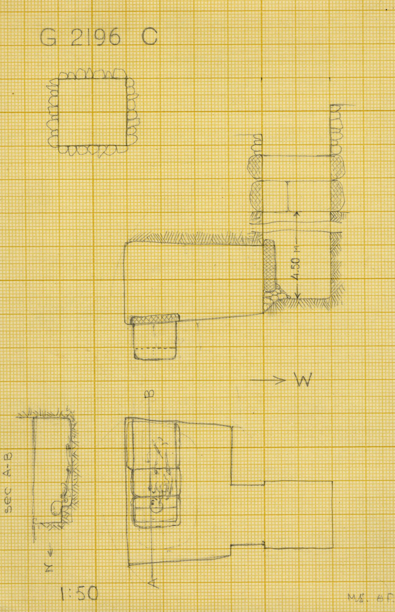 Maps and plans: G 2196, Shaft C