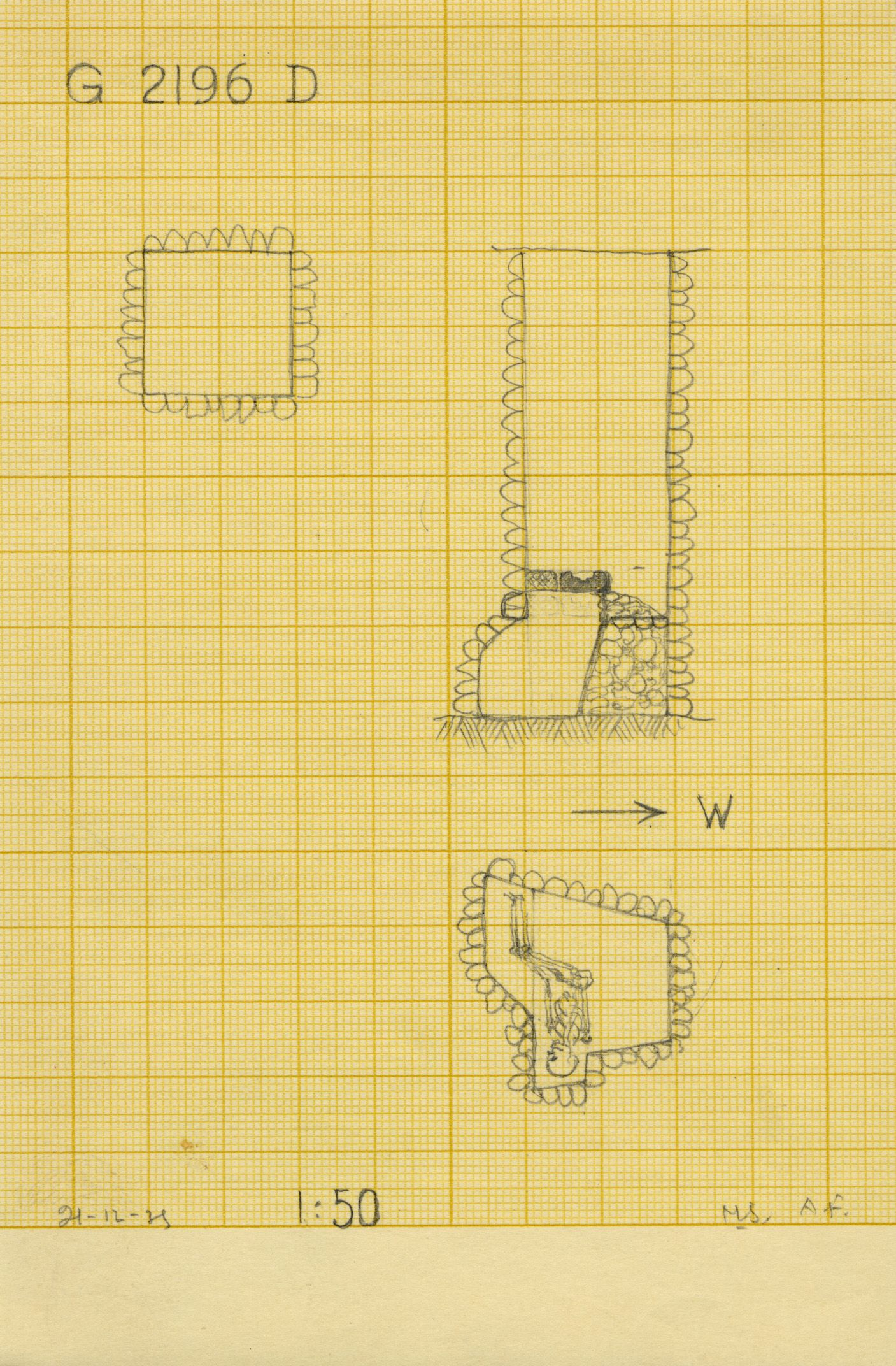 Maps and plans: G 2196, Shaft D