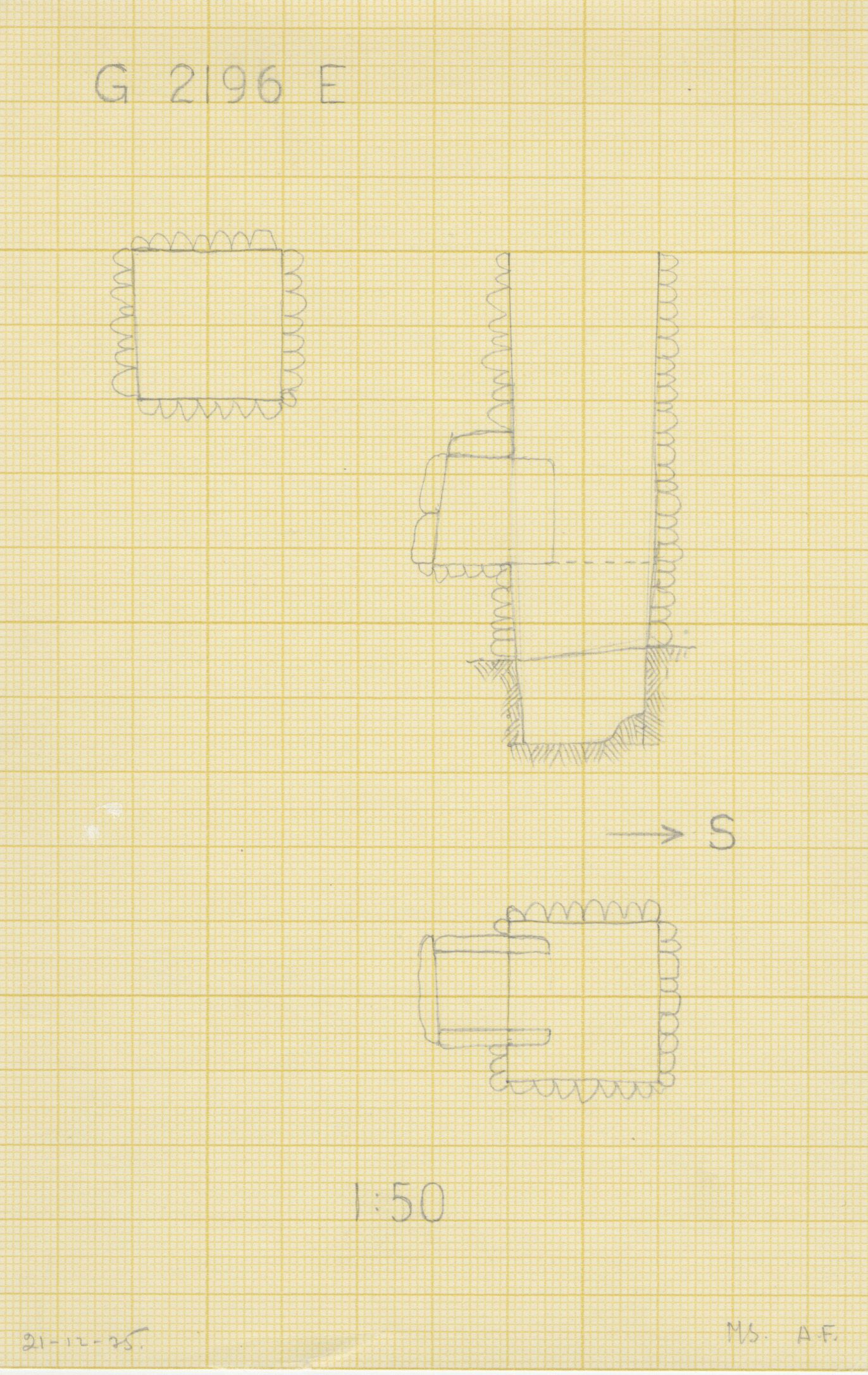Maps and plans: G 2196, Shaft E