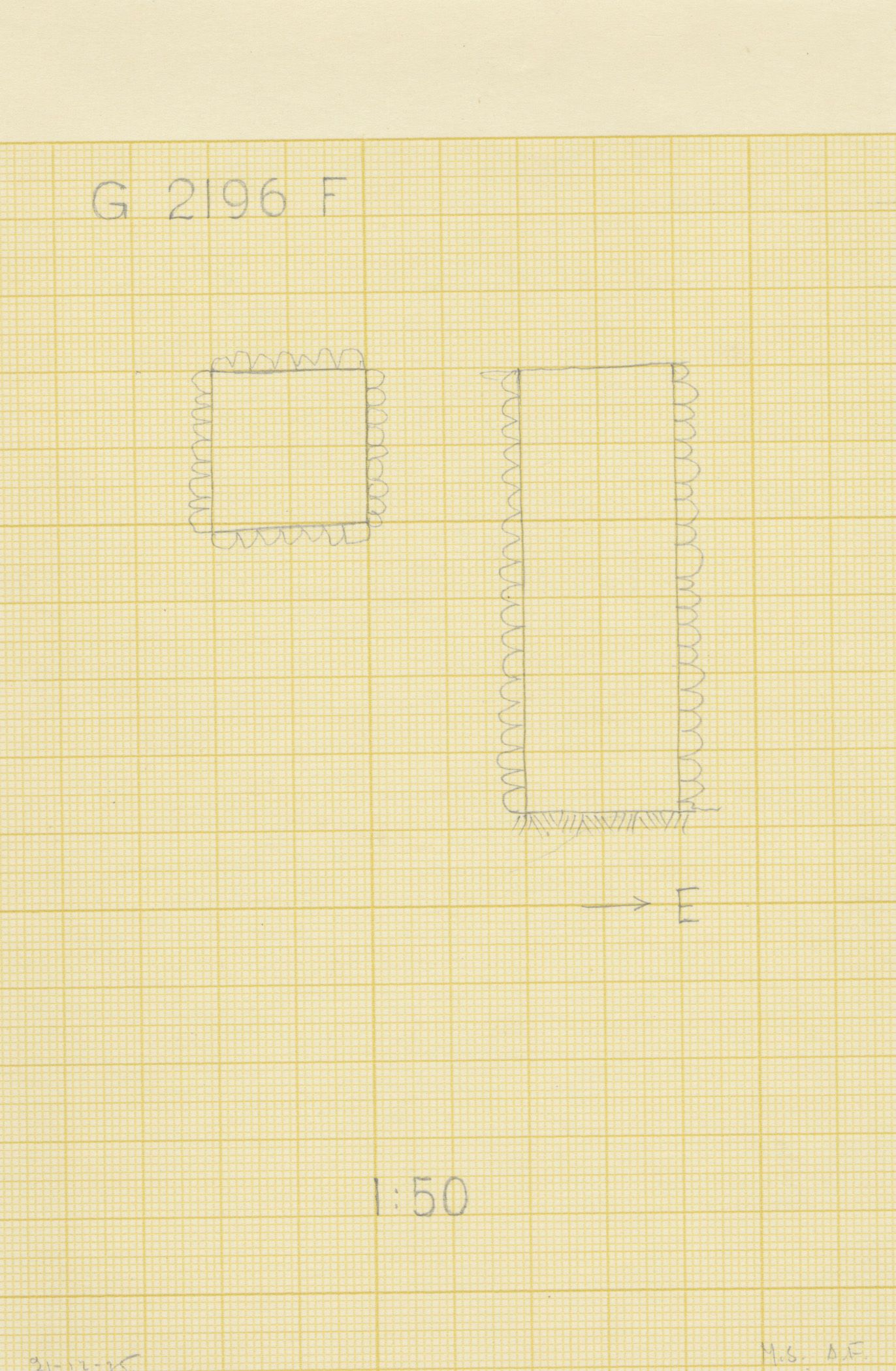 Maps and plans: G 2196, Shaft F