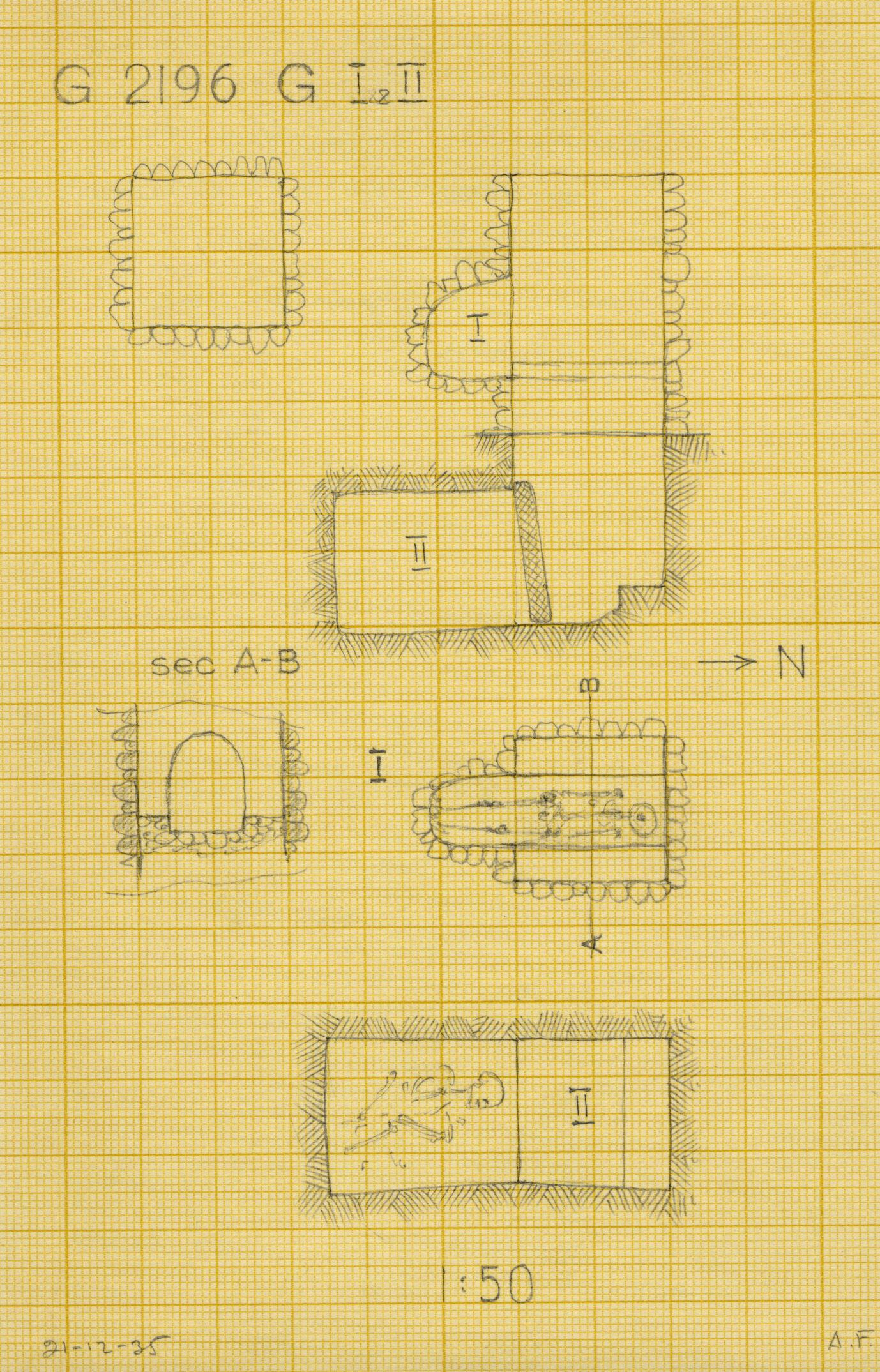Maps and plans: G 2196, Shaft G (I & II)
