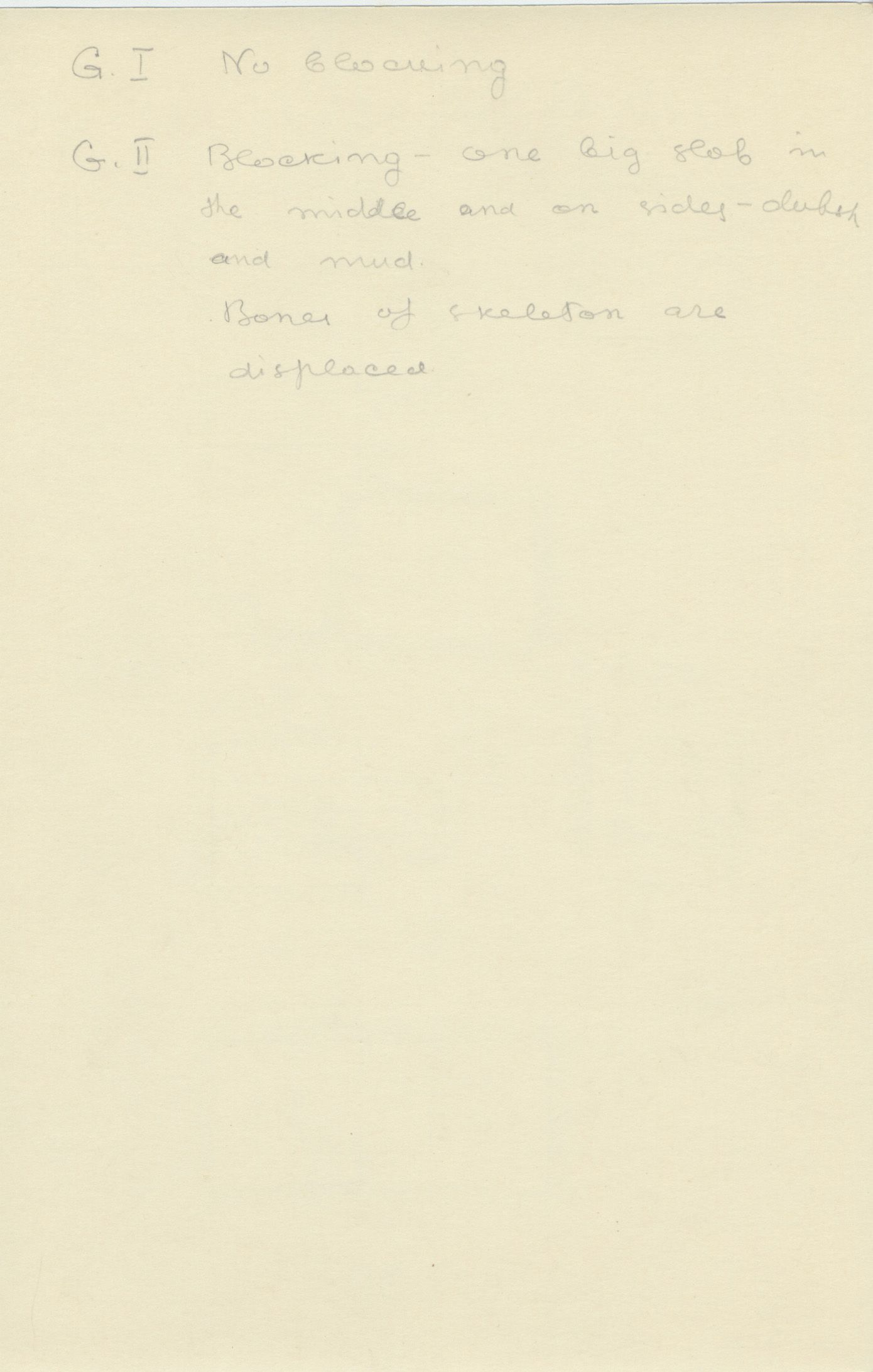 Notes: G 2196, Shaft G (I & II), notes
