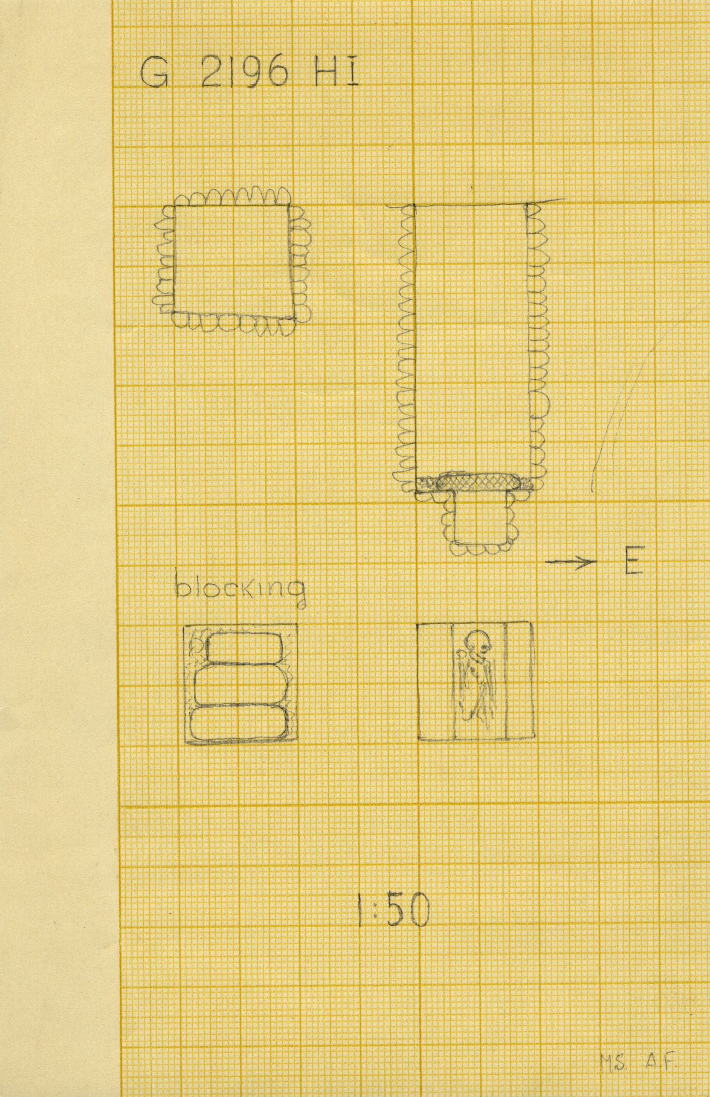 Maps and plans: G 2196, Shaft H (I)