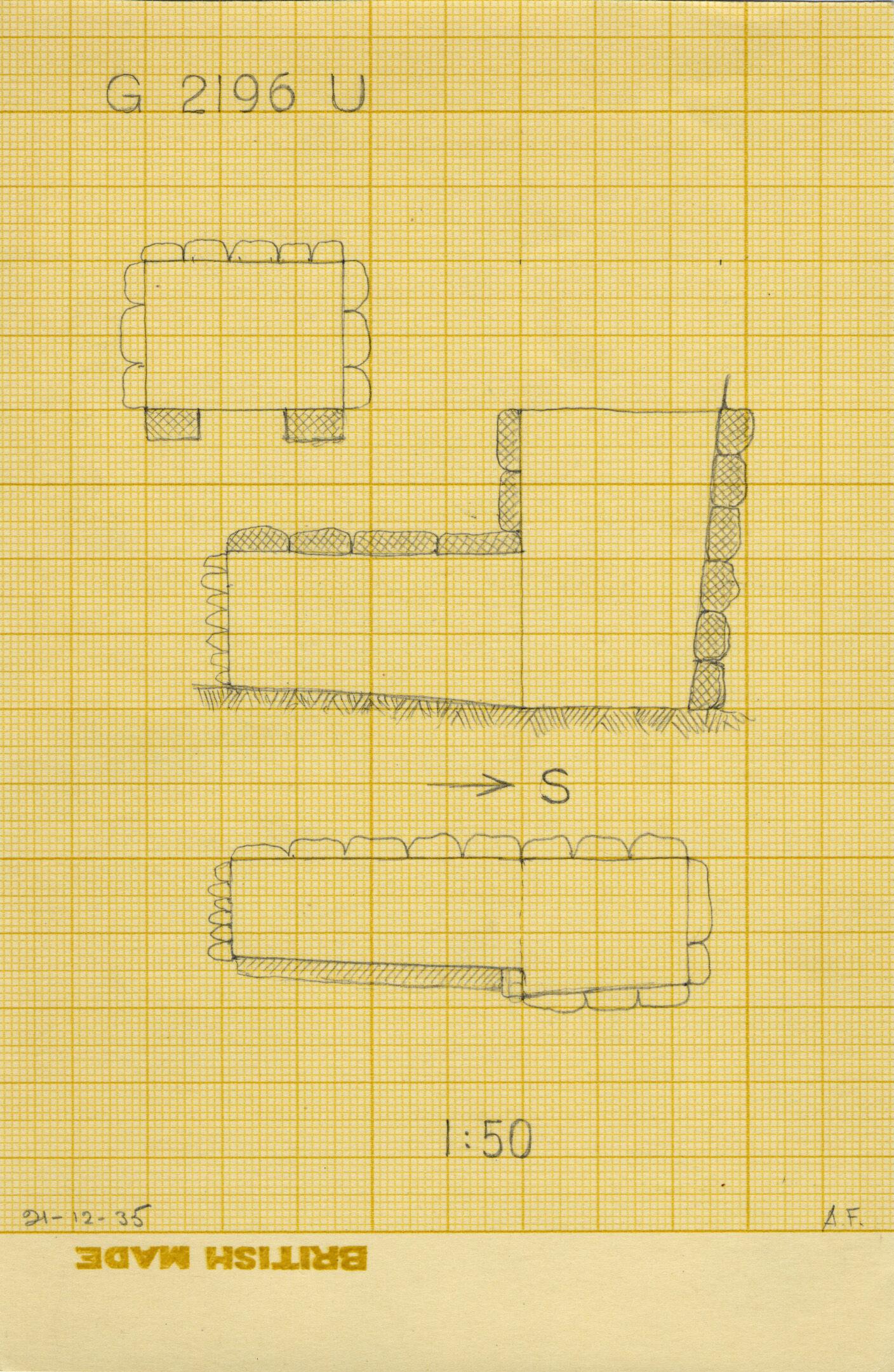 Maps and plans: G 2196, Shaft U