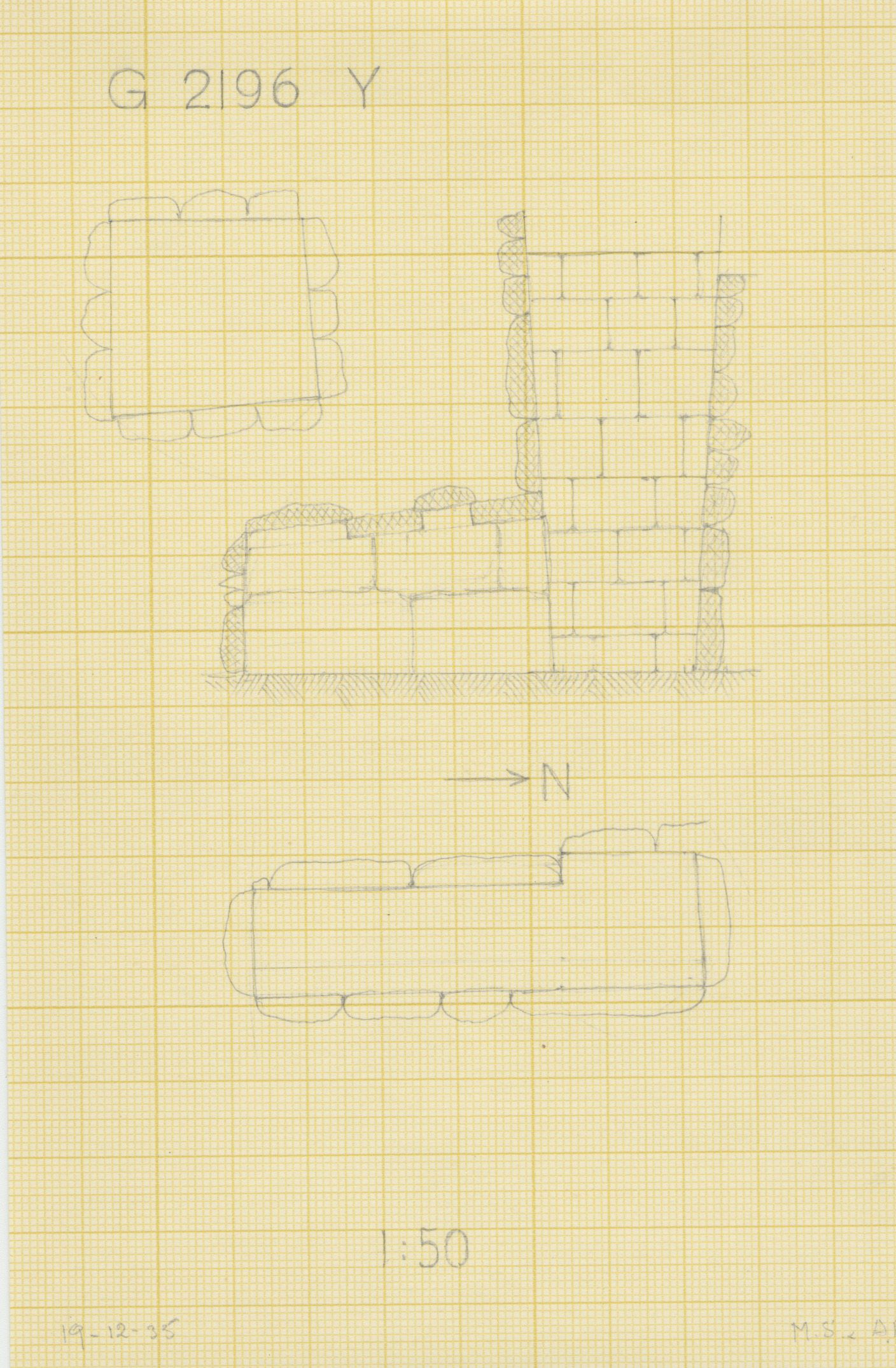Maps and plans: G 2196, Shaft Y