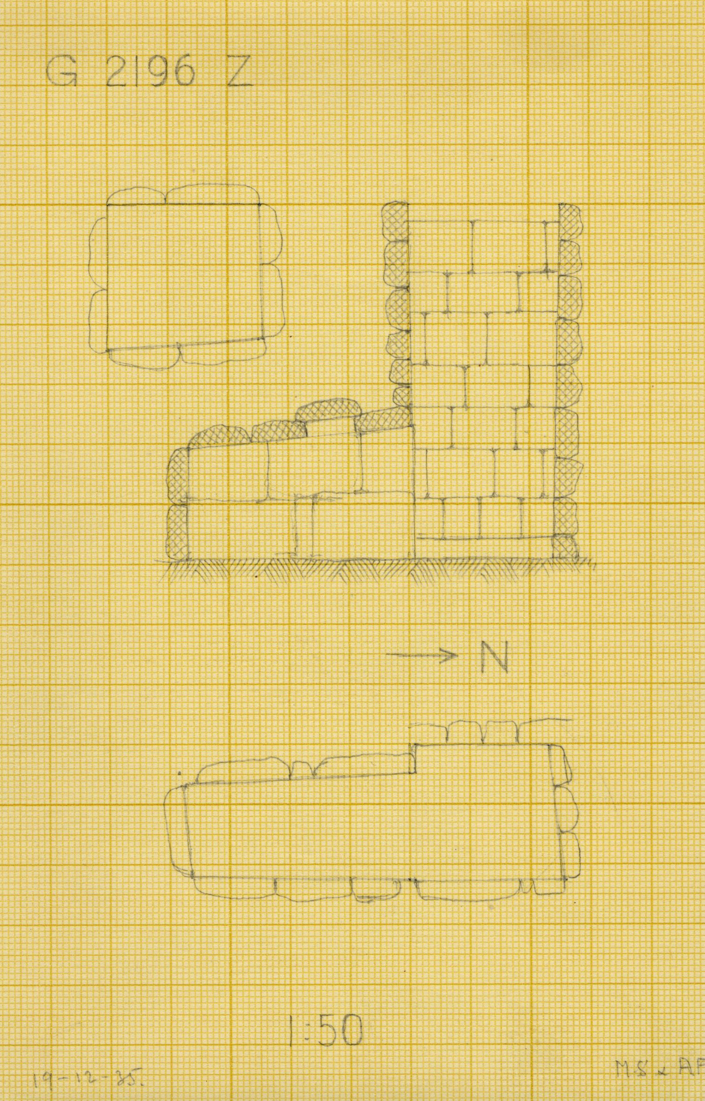 Maps and plans: G 2196, Shaft Z